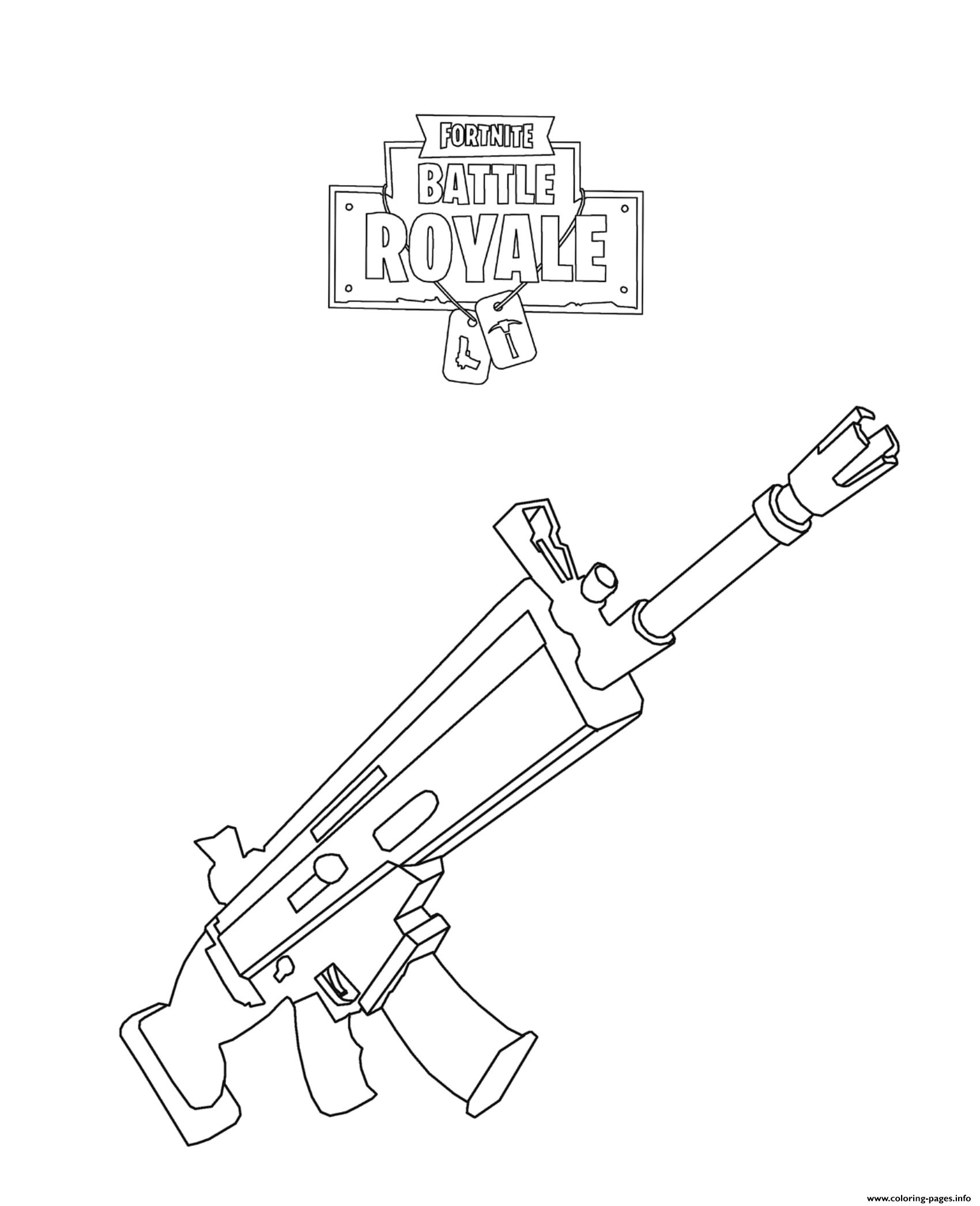 Fortnite Scar Coloring Pages Printable