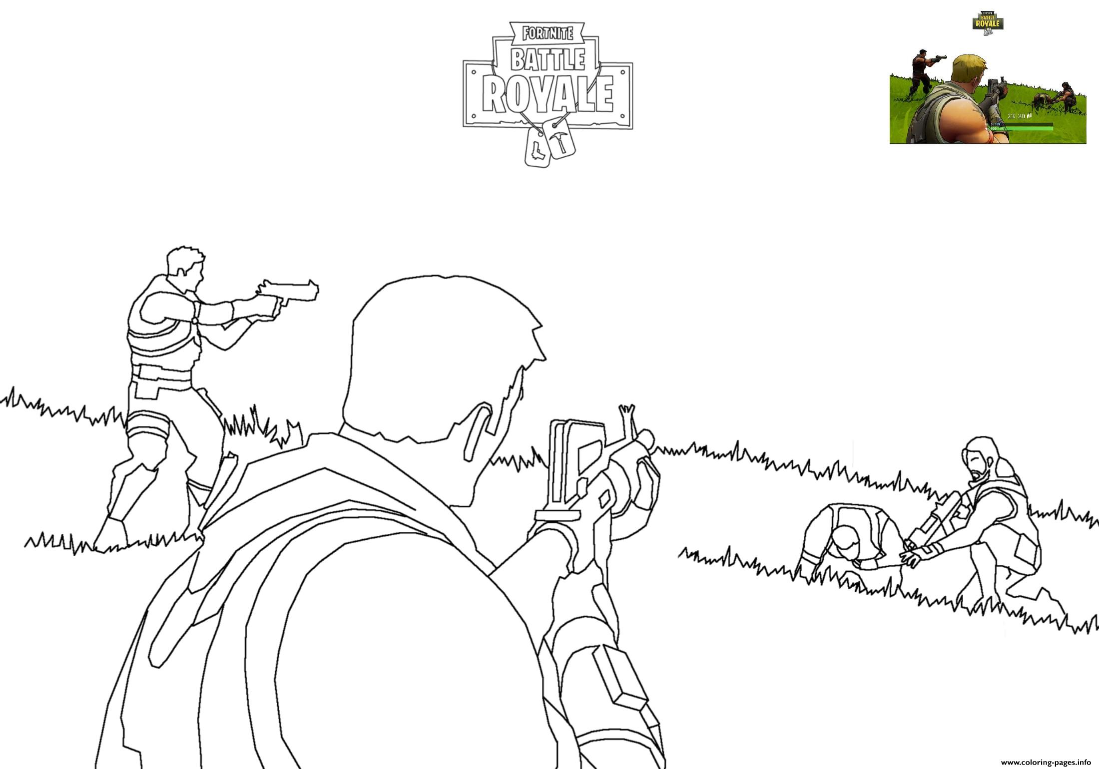 fortnite battle royale 2 coloring pages printable