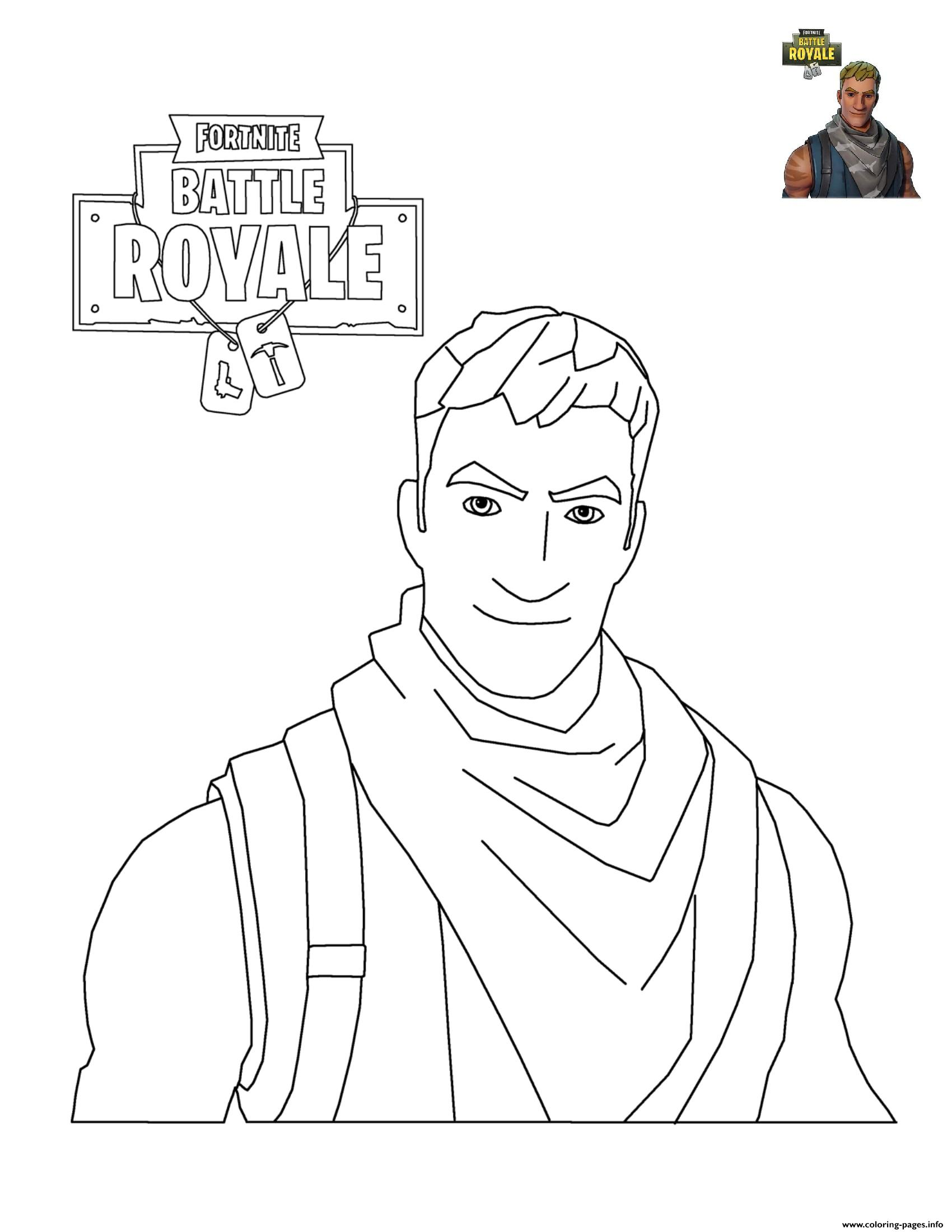 Fortnite Character 3 Coloring Pages Printable