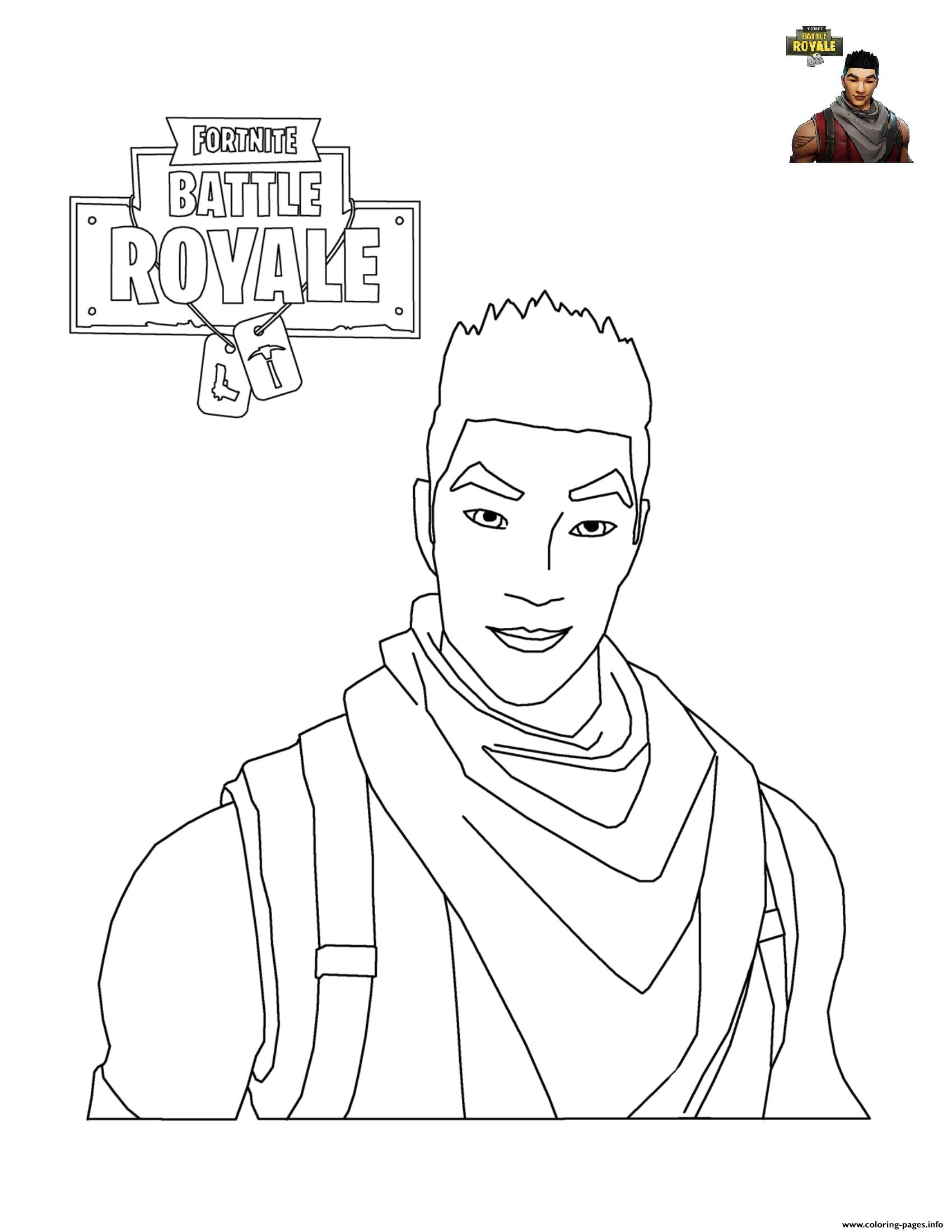 Fortnite Character Coloring Pages Printable