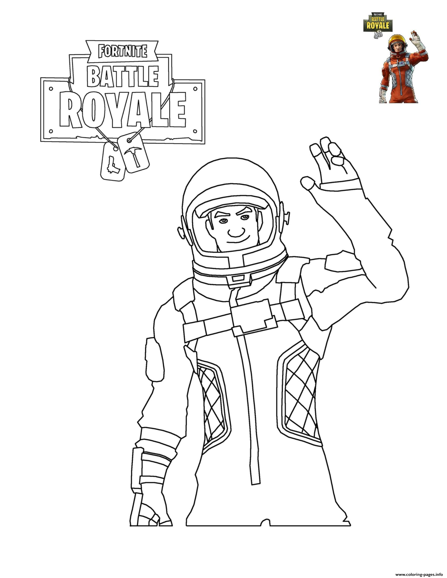 Fortnite Character 5 coloring pages