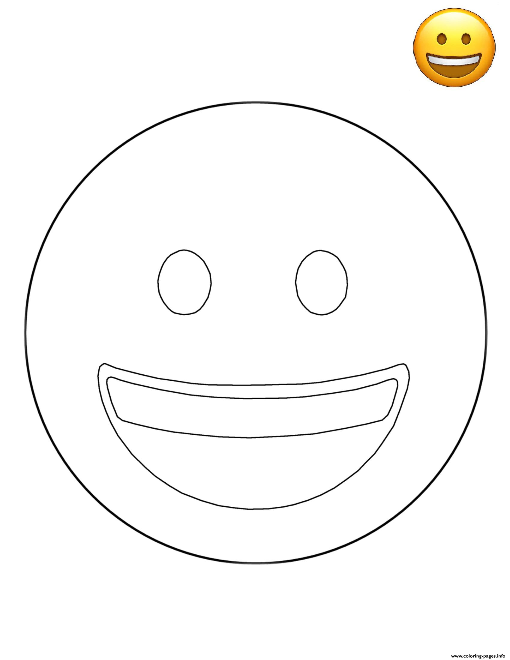 emoji smiling face free sheets coloring pages printable