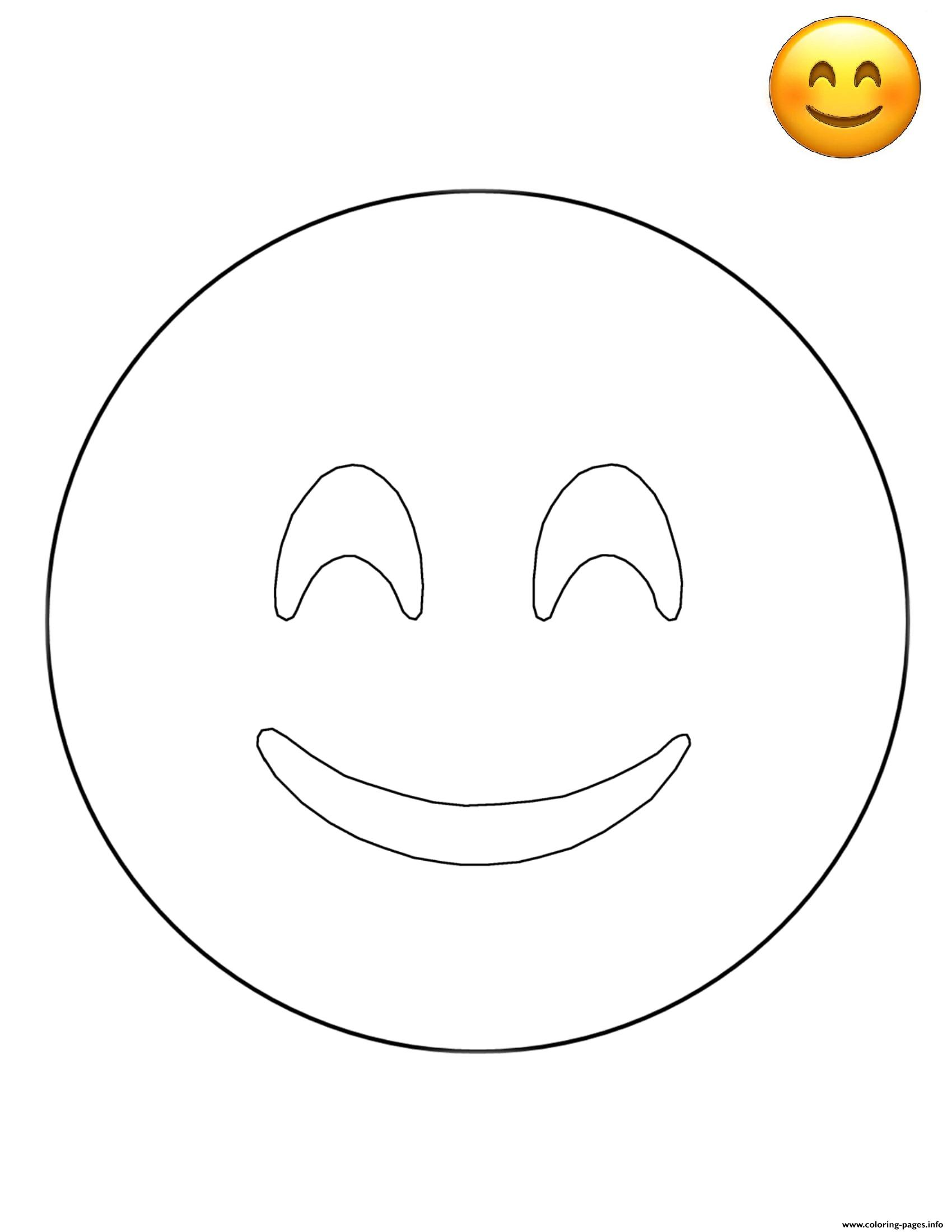 Emoji Smiley Face Free Sheets coloring pages