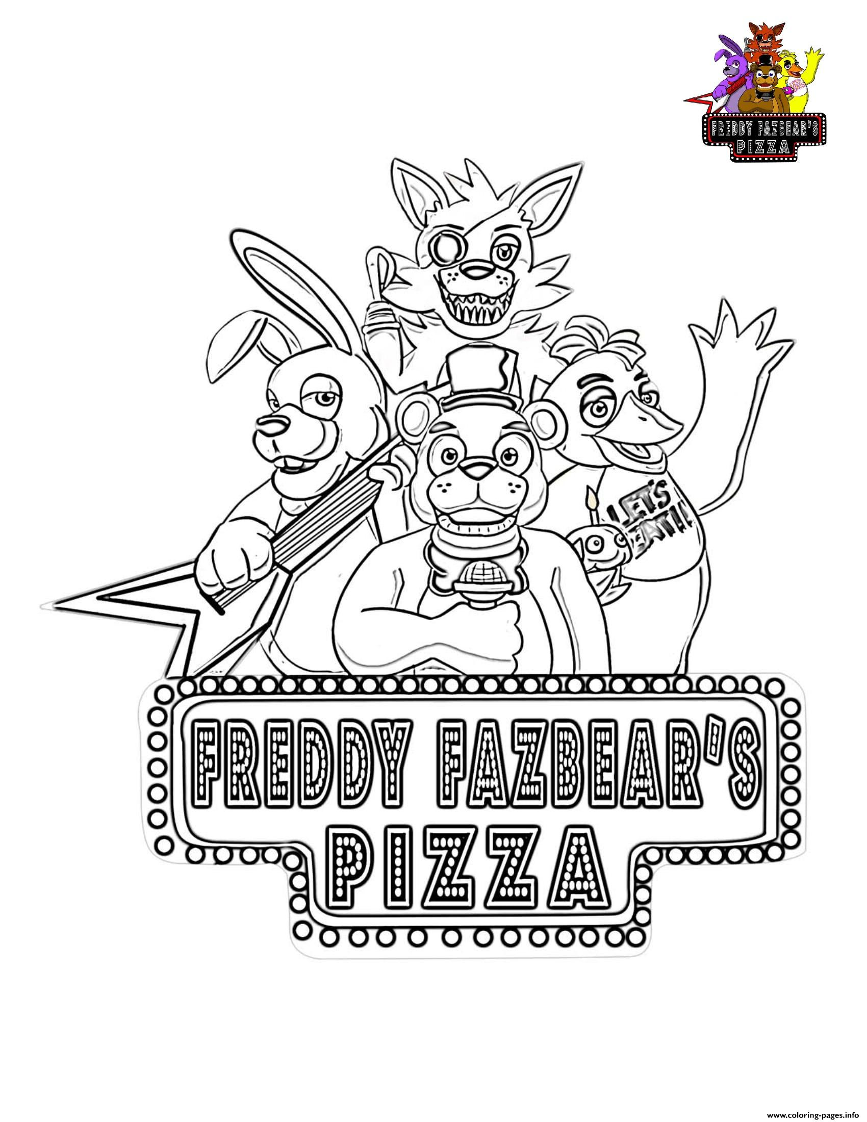 fnaf coloring pages printable Five Nights At Freddys FNAF Coloring Pages Printable fnaf coloring pages printable