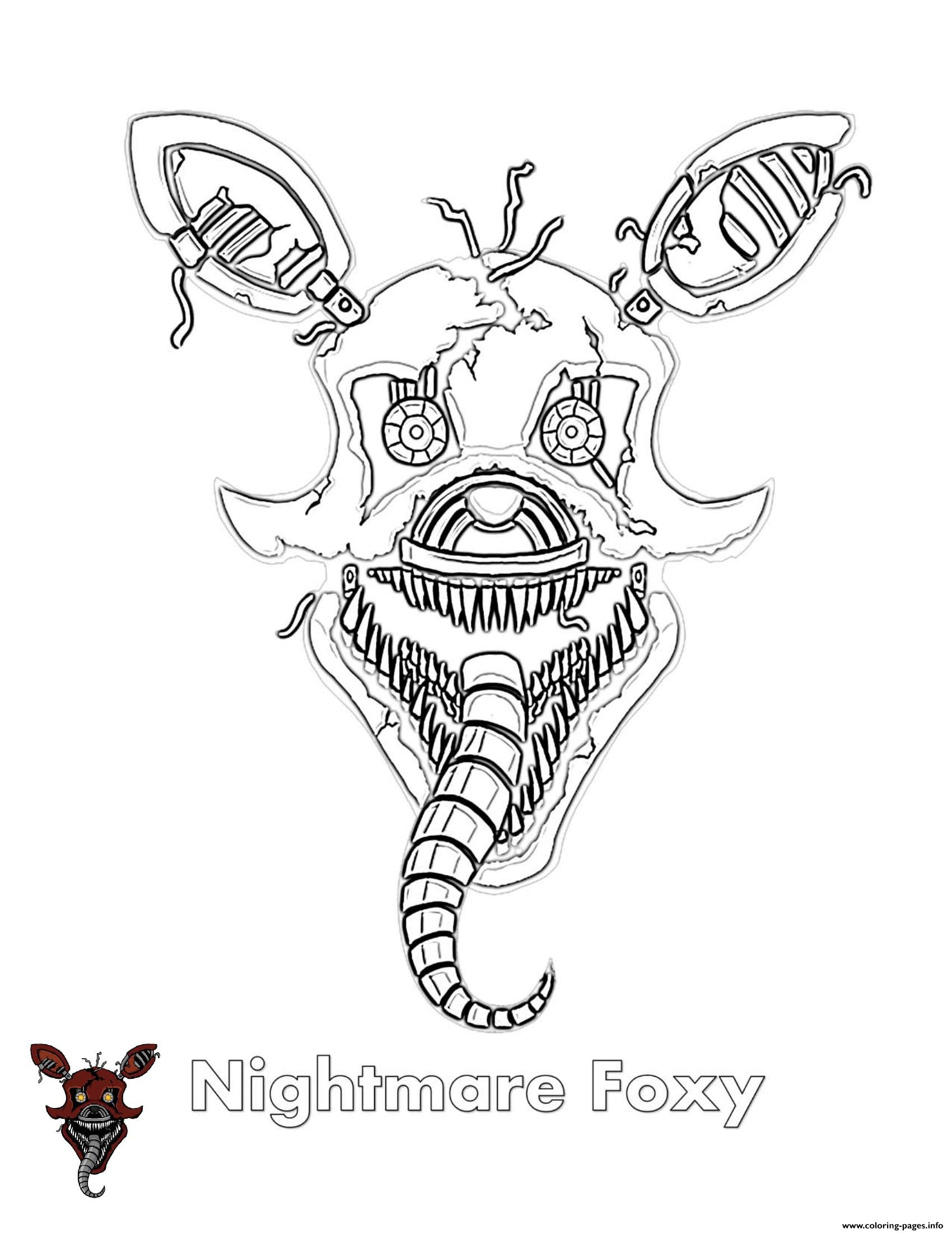 photograph relating to Fnaf Coloring Pages Printable titled Nightmare Cunning FNAF Coloring Internet pages Printable