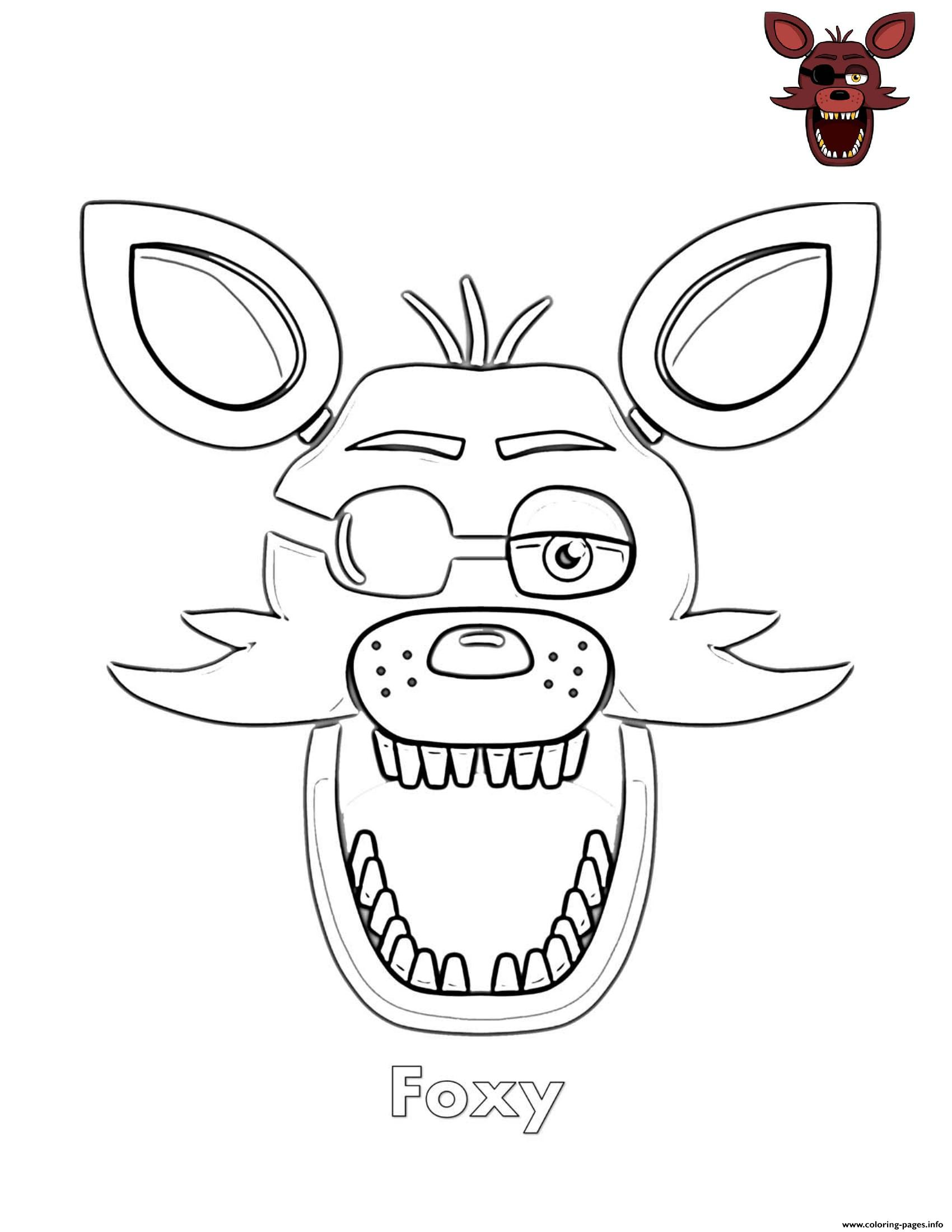 This is a photo of Ridiculous fnaf foxy coloring pages