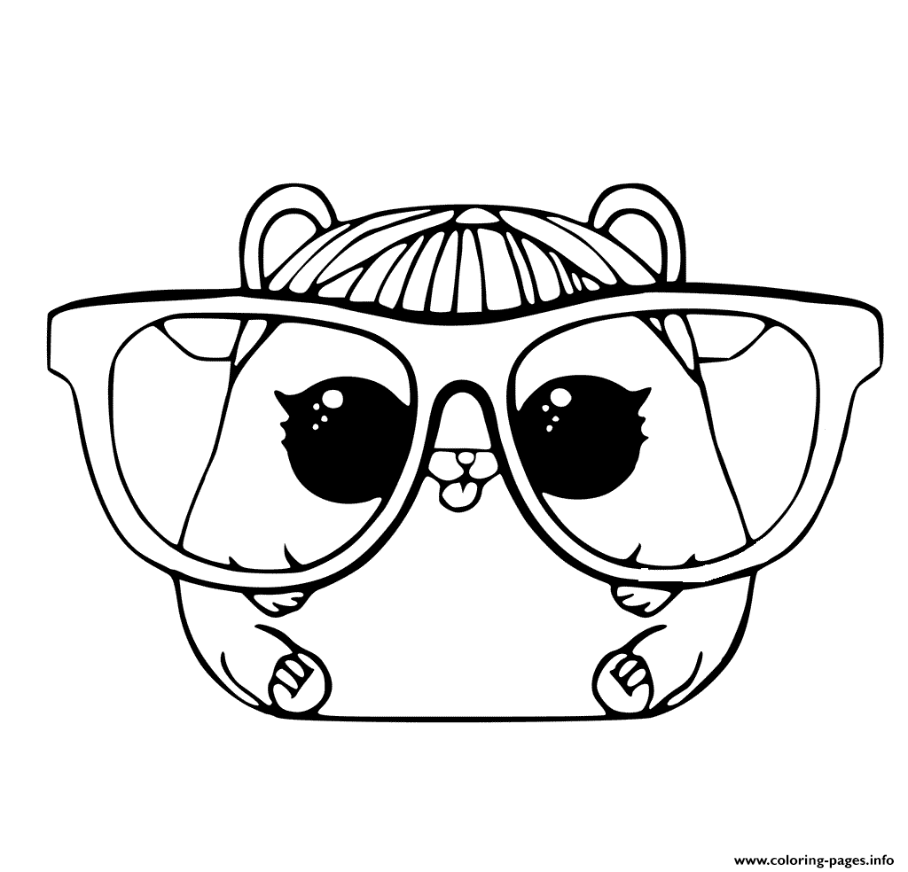 LOL Pet Coloring Page Cherry Hamster Coloring Pages Printable
