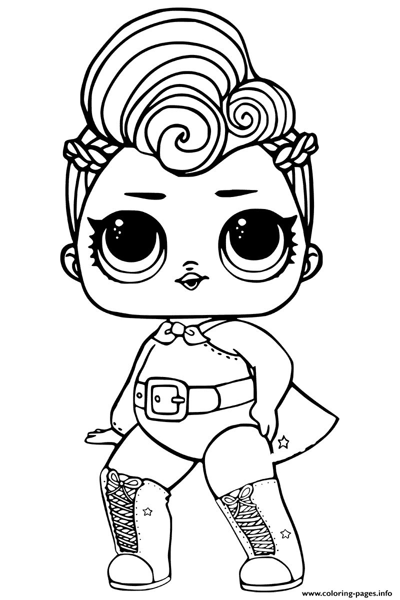 Lol Surprise Coloring Stardust Queen Coloring Pages Printable