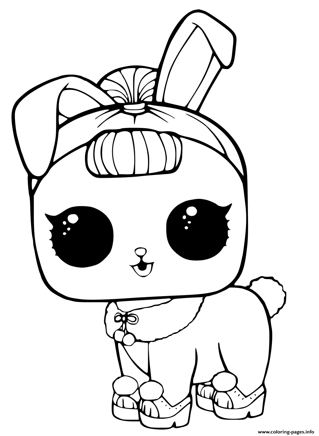 Lol Surprise Pets Coloring Page Crystal Bunny Coloring Pages Printable