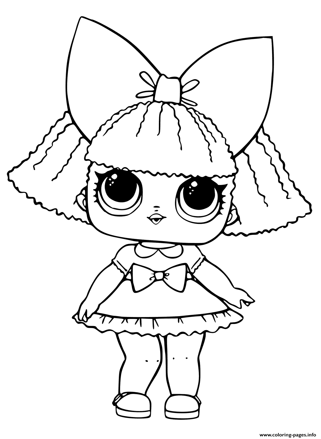 Lol Doll Printable Coloring Pages Printable