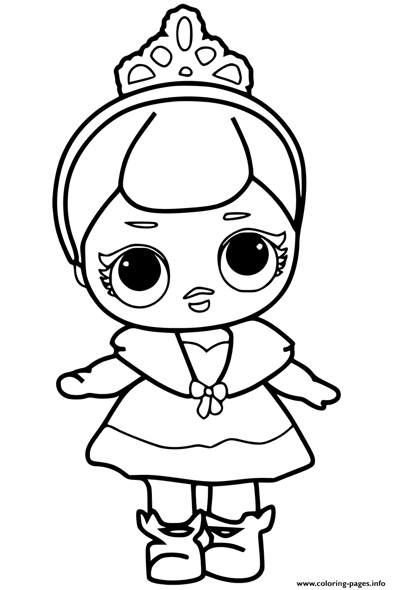 Lol Surprise Doll Coloring Pages Printable