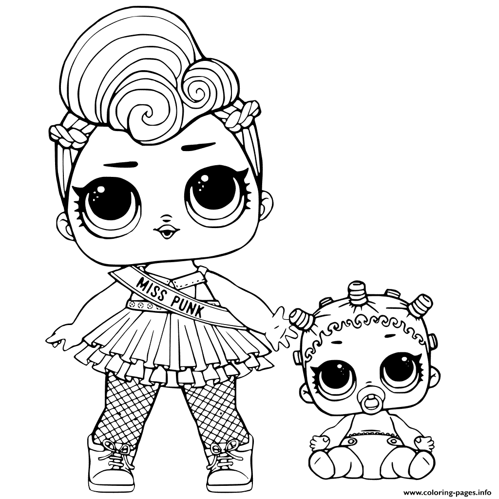 Lol Surprise And Lil Sisters Coloring Pages Printable