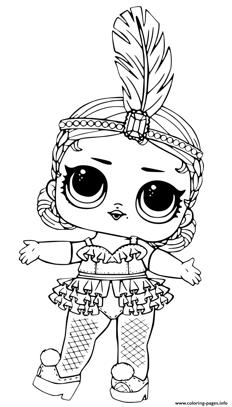 Showbaby glamour lol doll coloring pages printable