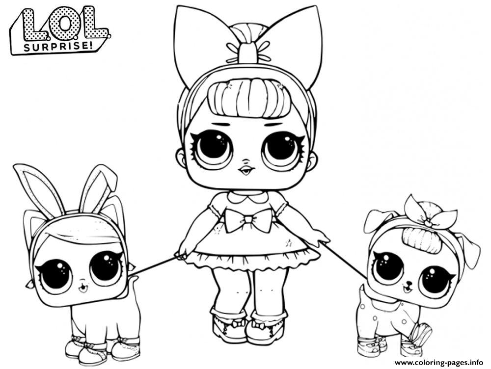 LOL Doll Fancy Baby Coloring Pages