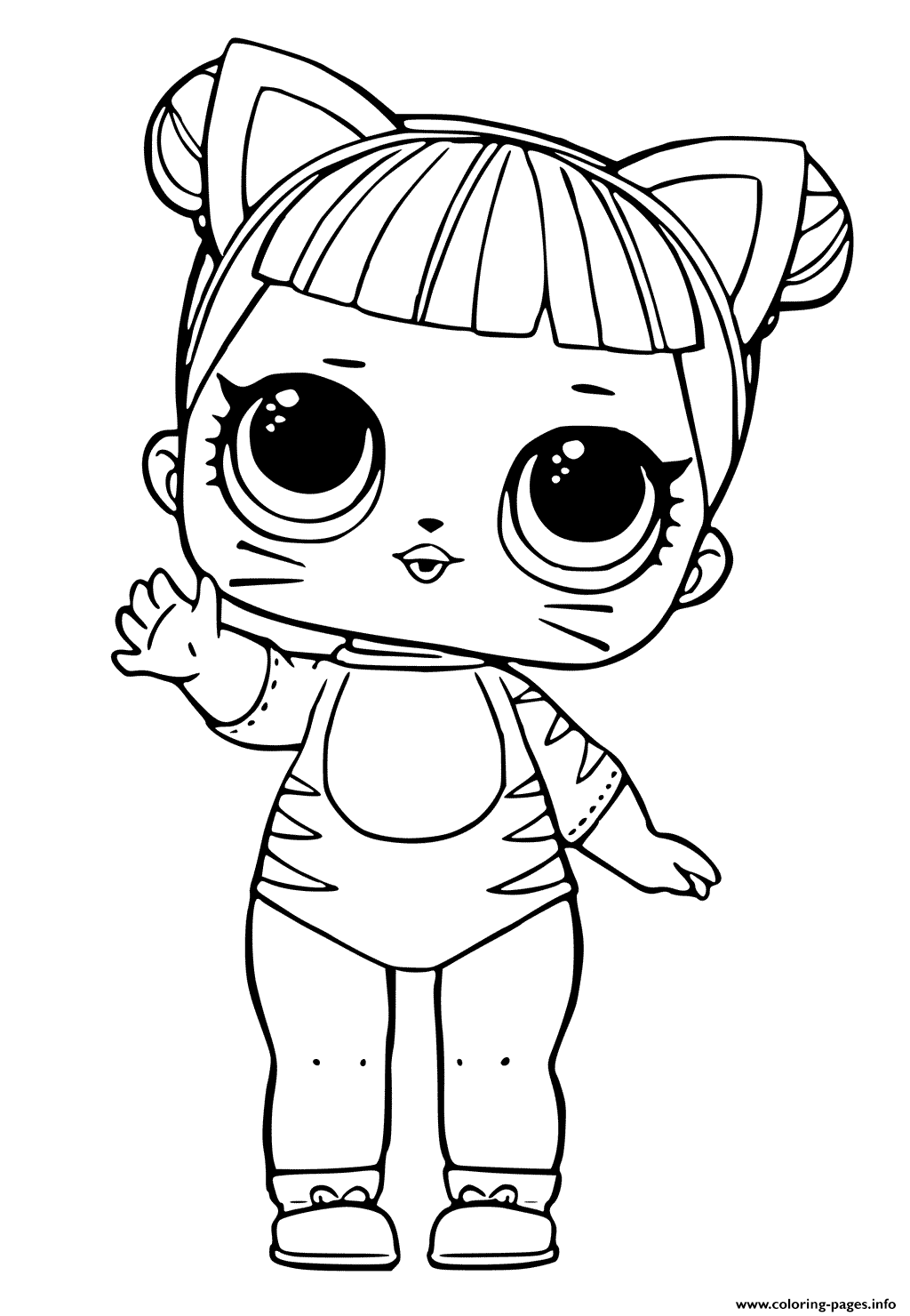 Lol Doll Tiger Cat Cute Coloring Pages Printable