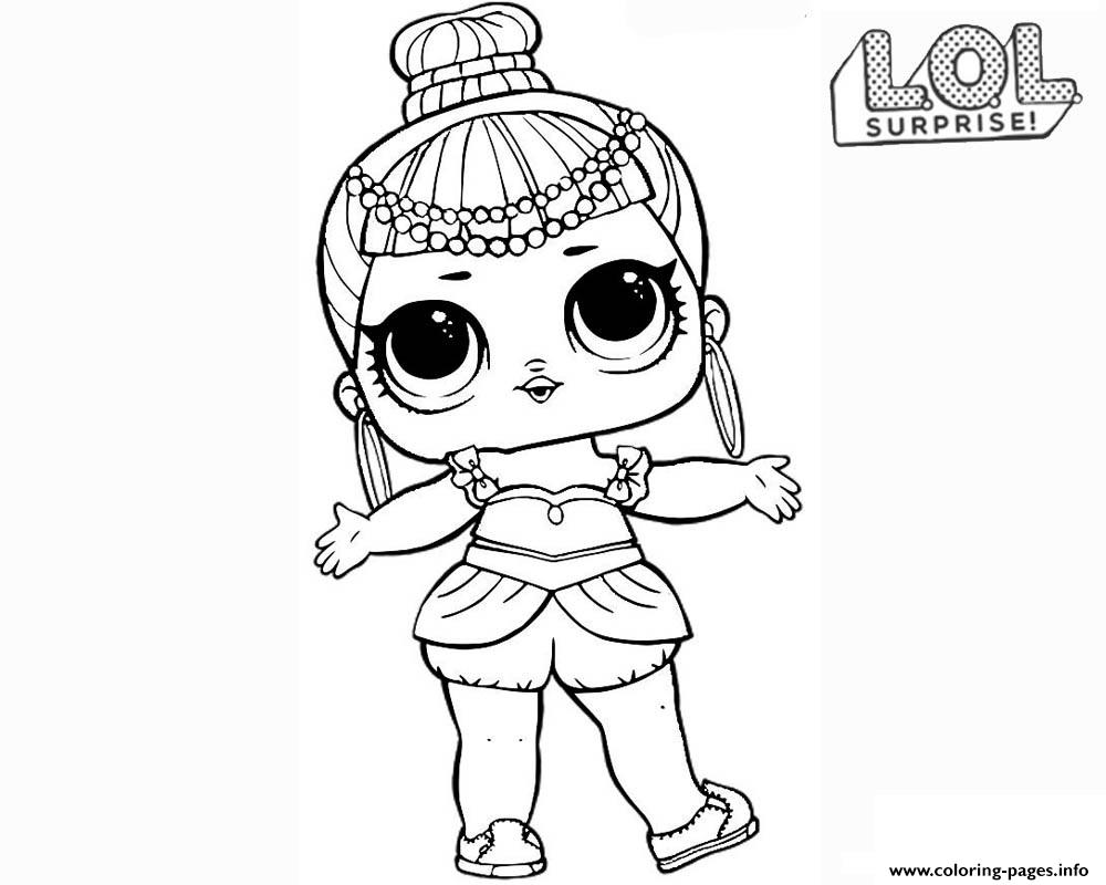 Lol surprise doll genie coloring pages printable