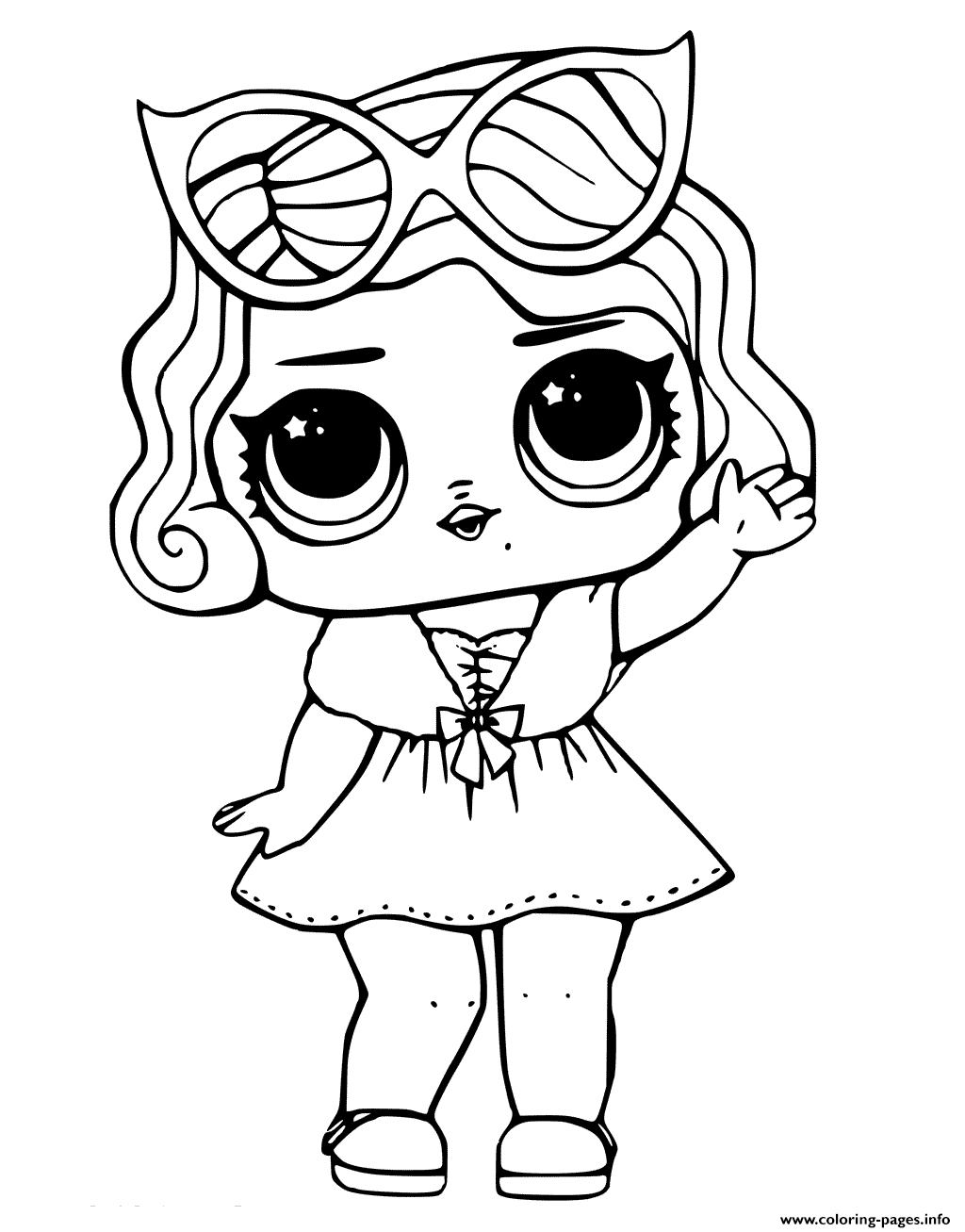 Leading Baby From Lol Surprise Coloring Pages Printable