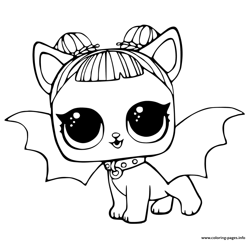 Lol pets coloring pages cute midnight pup with devil wings coloring pages printable