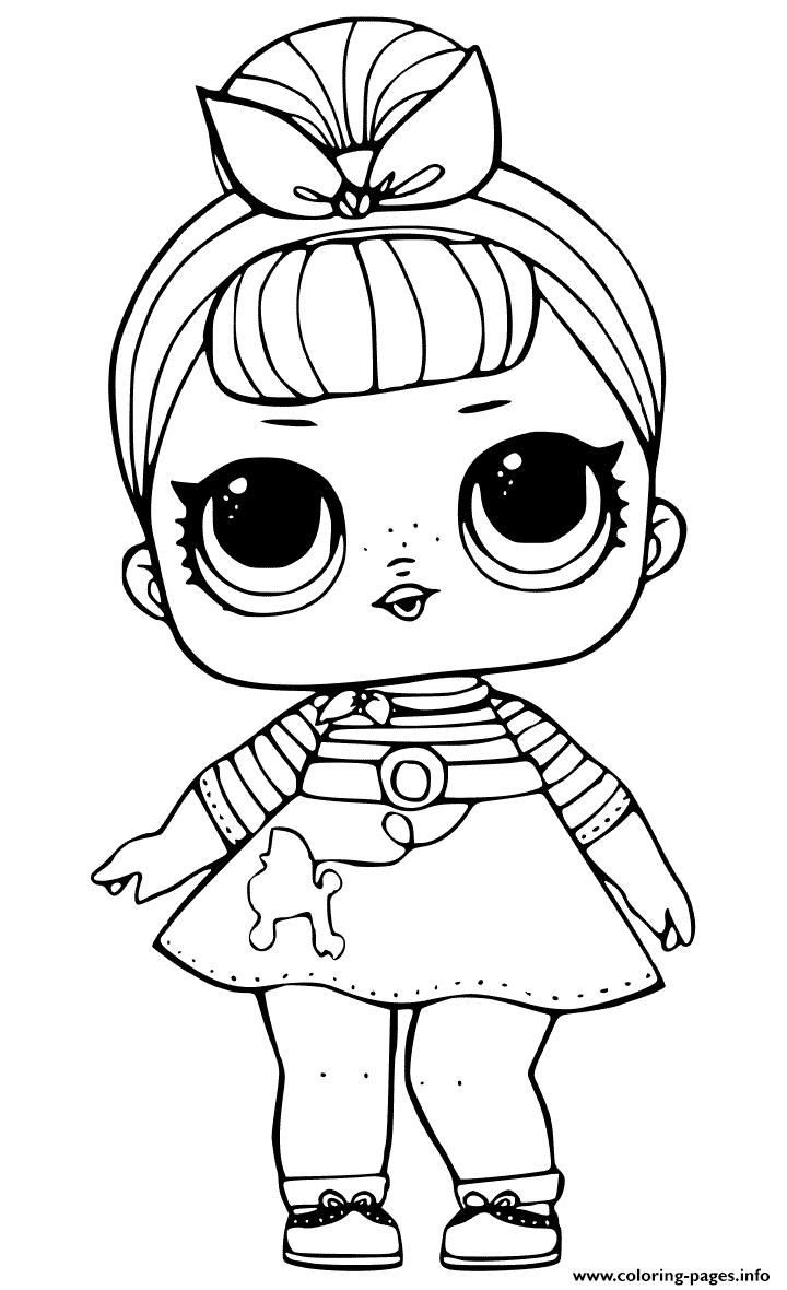 Sis swing doll from lol surprise coloring pages printable