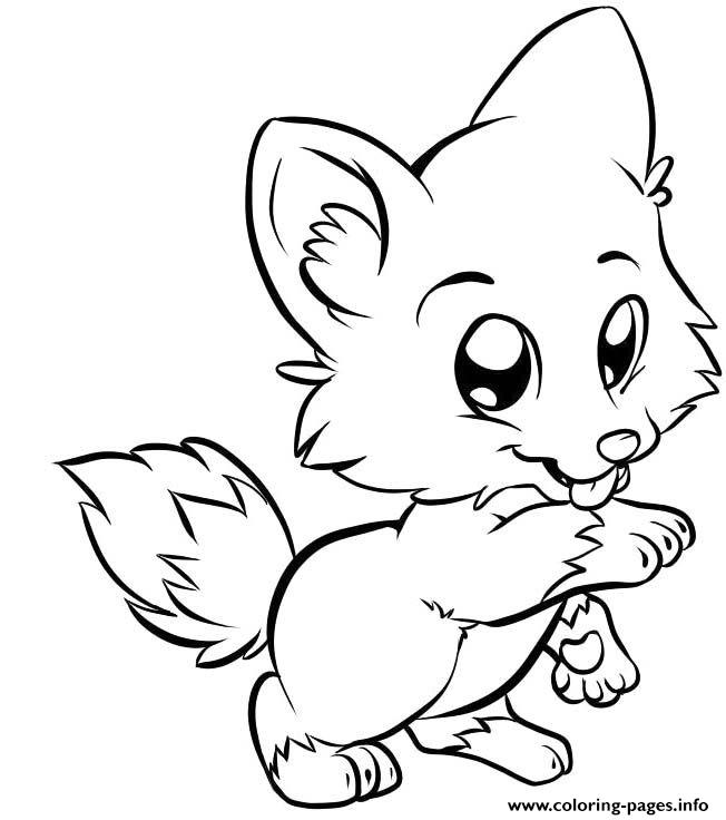 Cute Puppy For Kids coloring pages