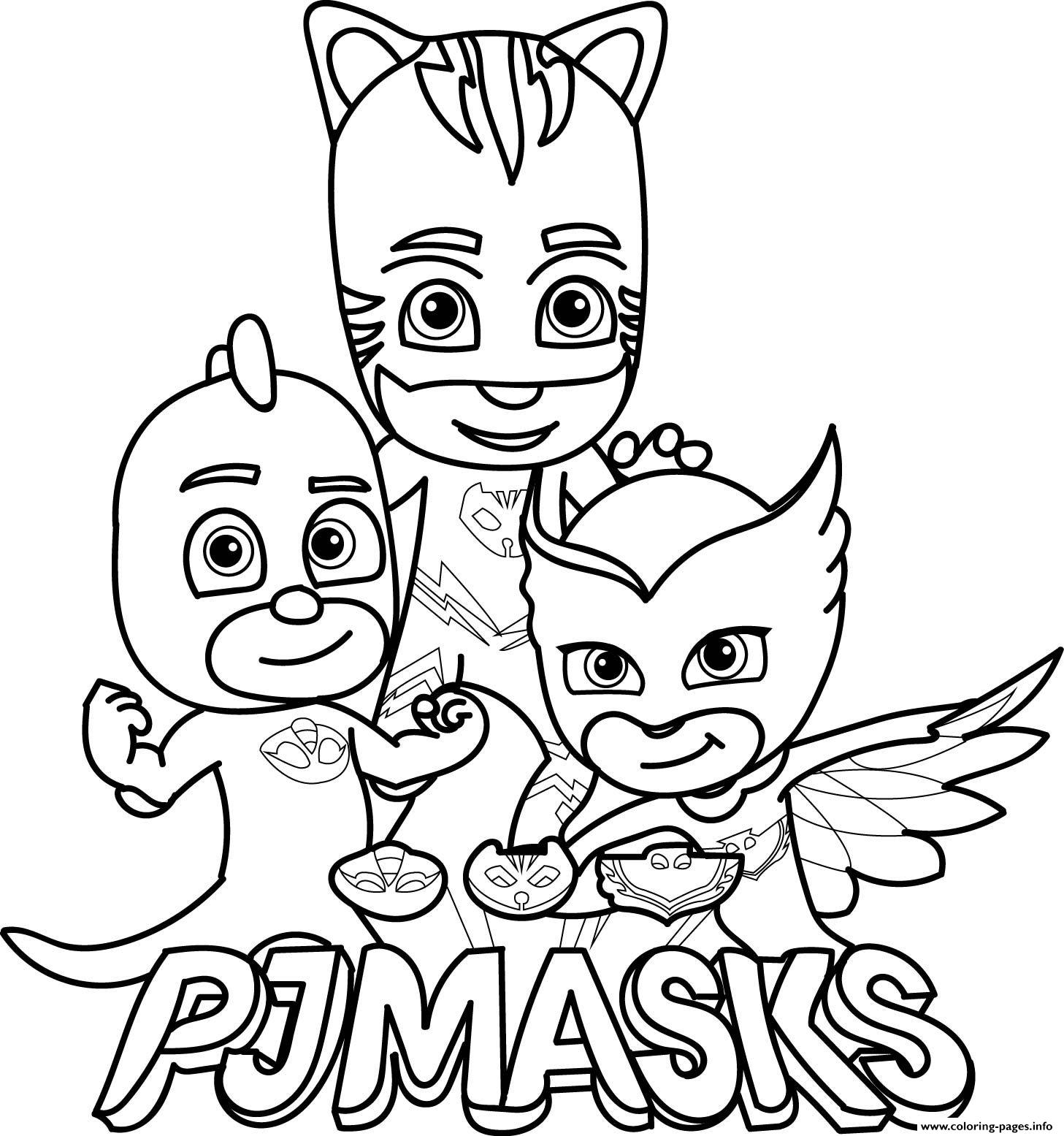 picture about Pj Mask Printable titled Pj Masks Gekko Owlette Catboy Brand Coloring Internet pages Printable