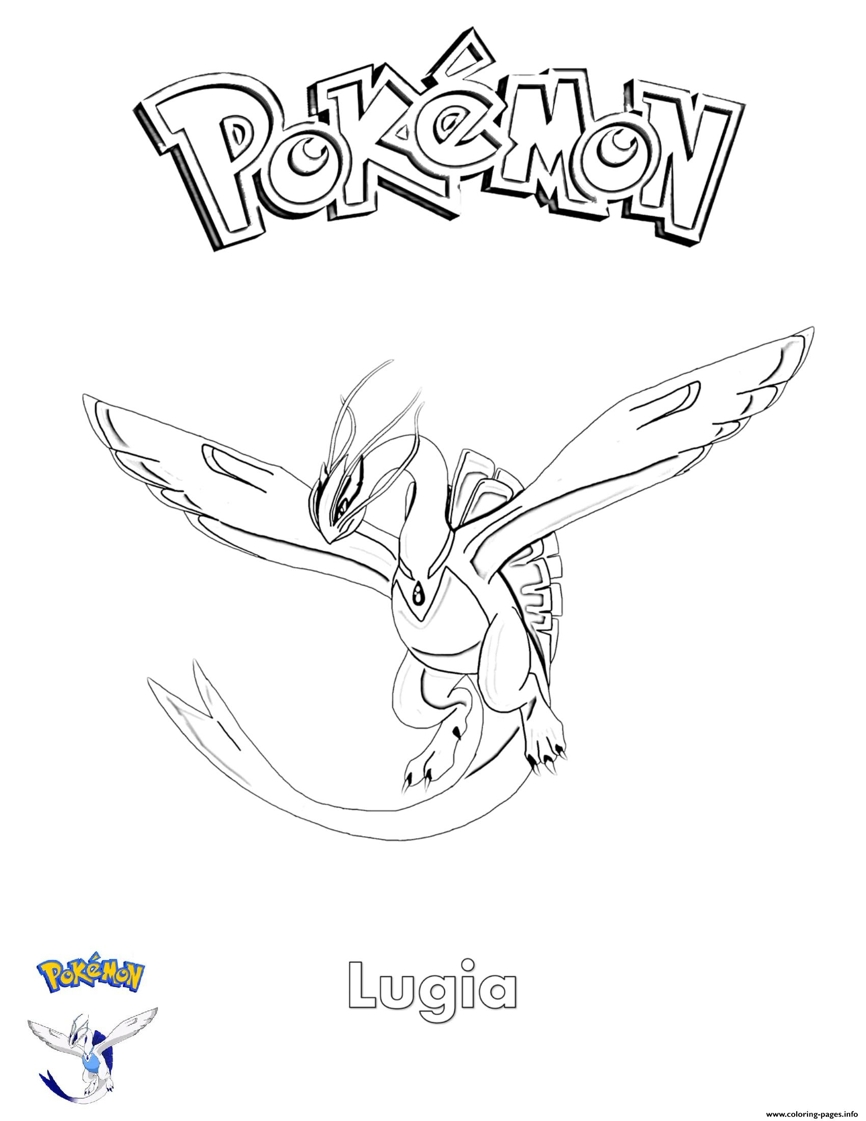 Lugia Pokemon coloring pages