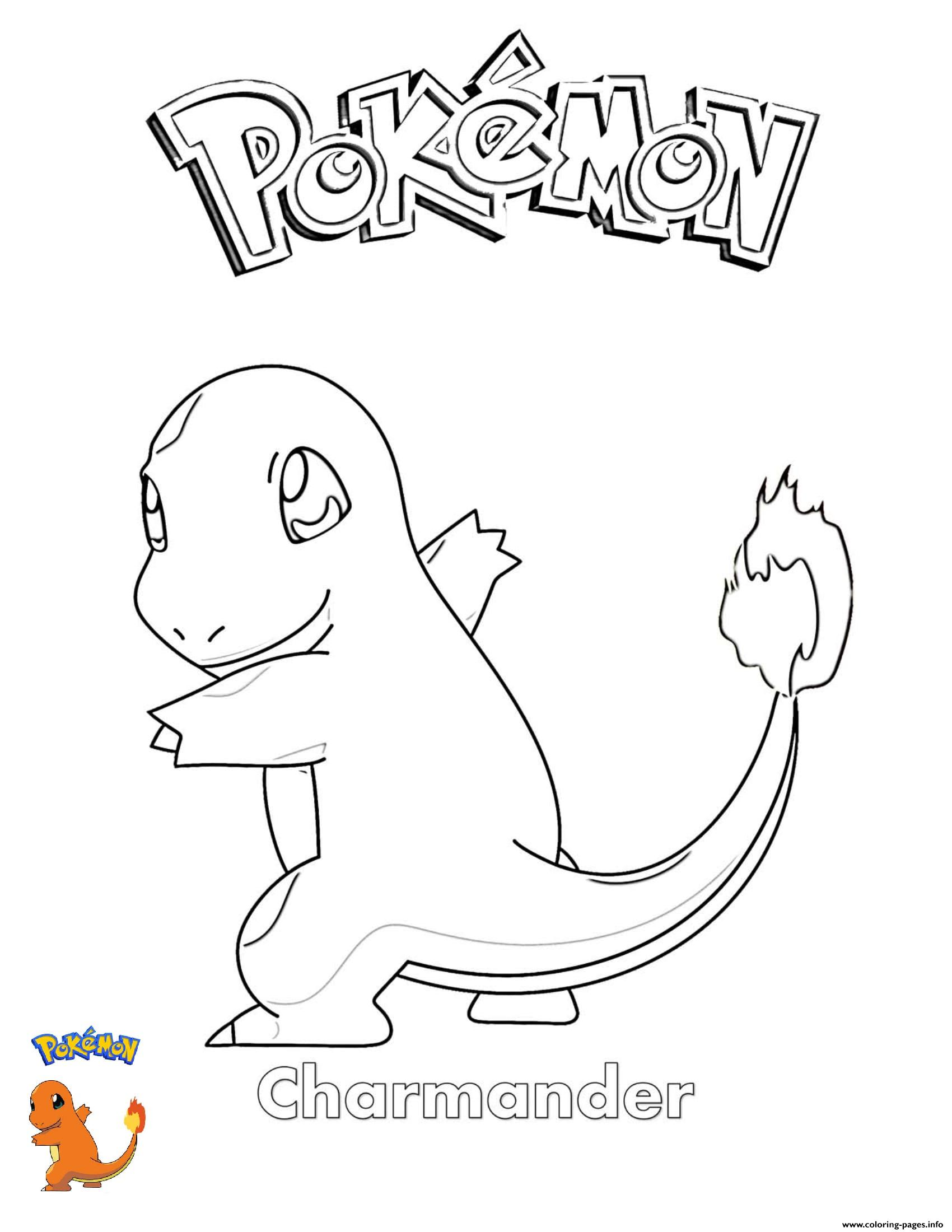 Charmander Pokemon Coloring Pages Printable