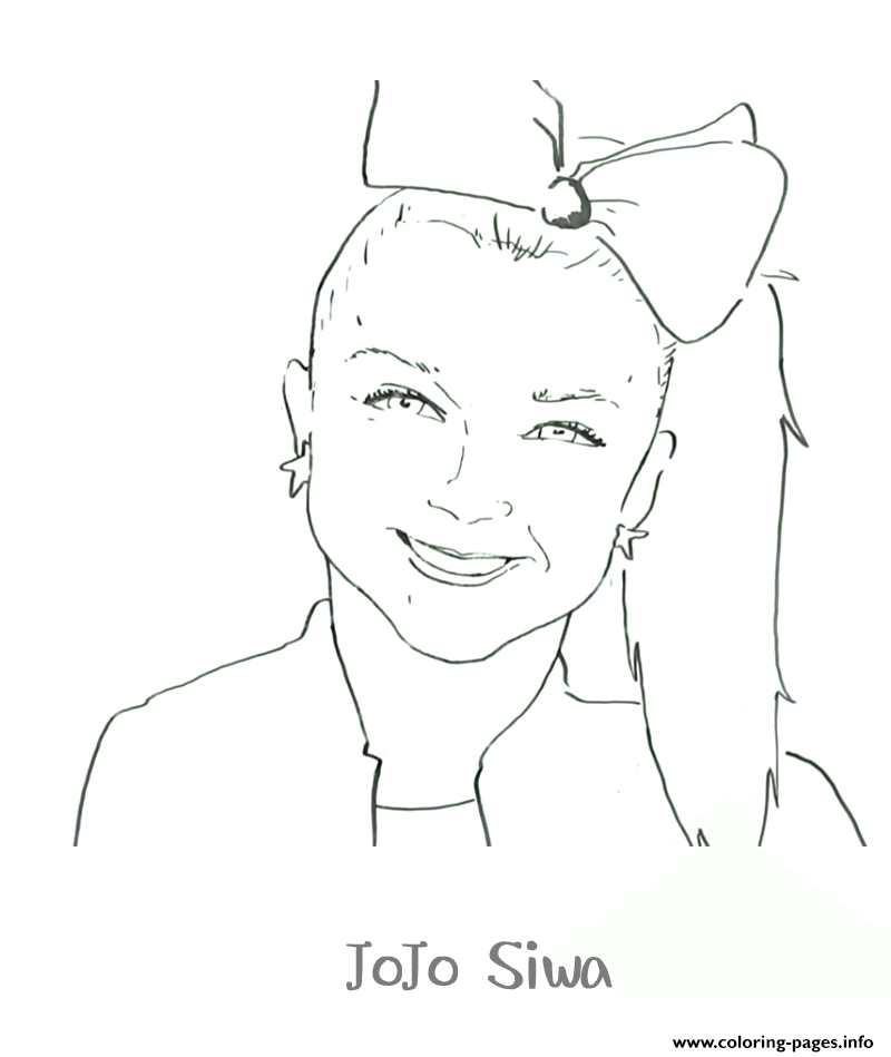 Printable Jojo Siwa Coloring Pages Printable