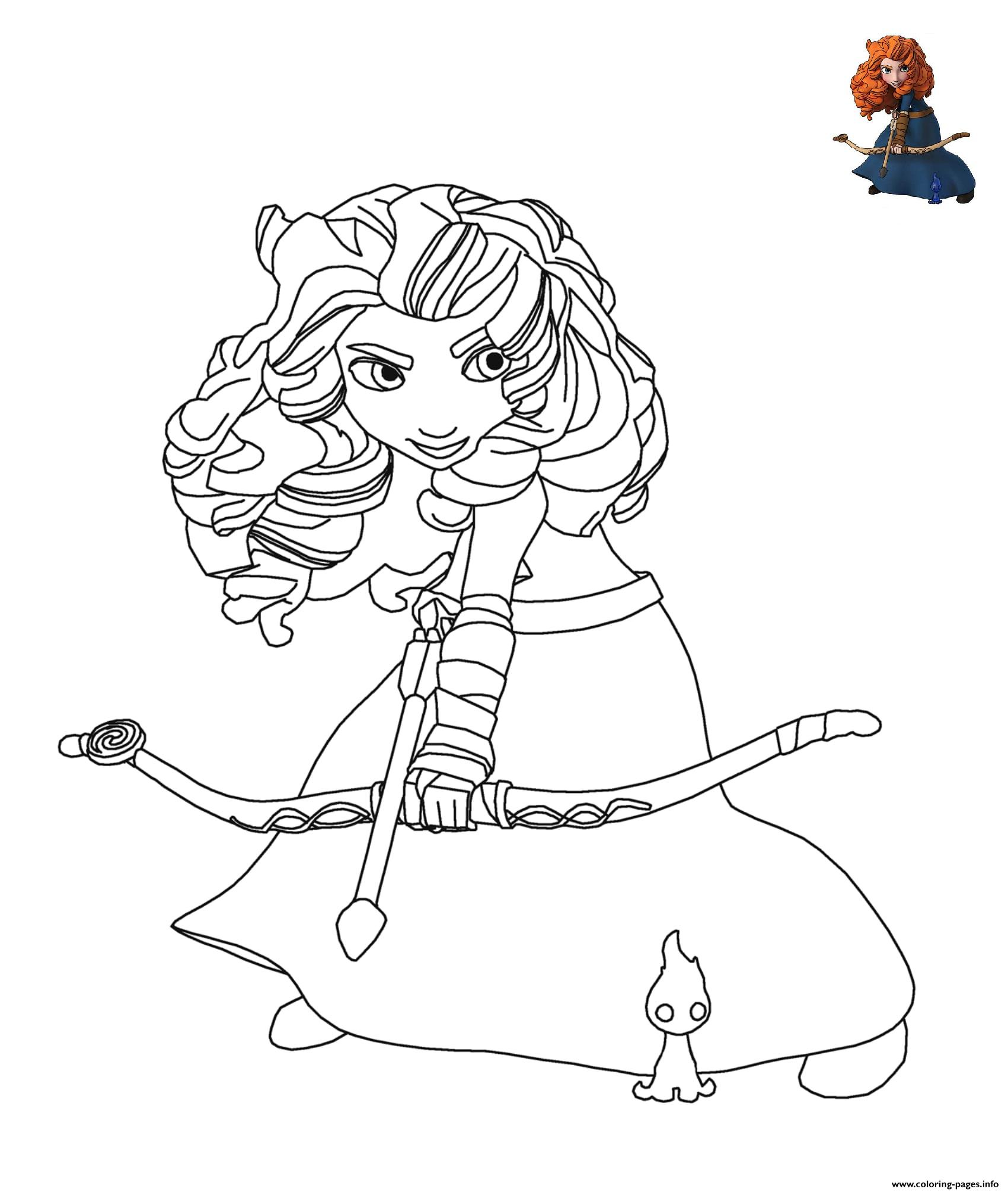 Brave Disney coloring pages