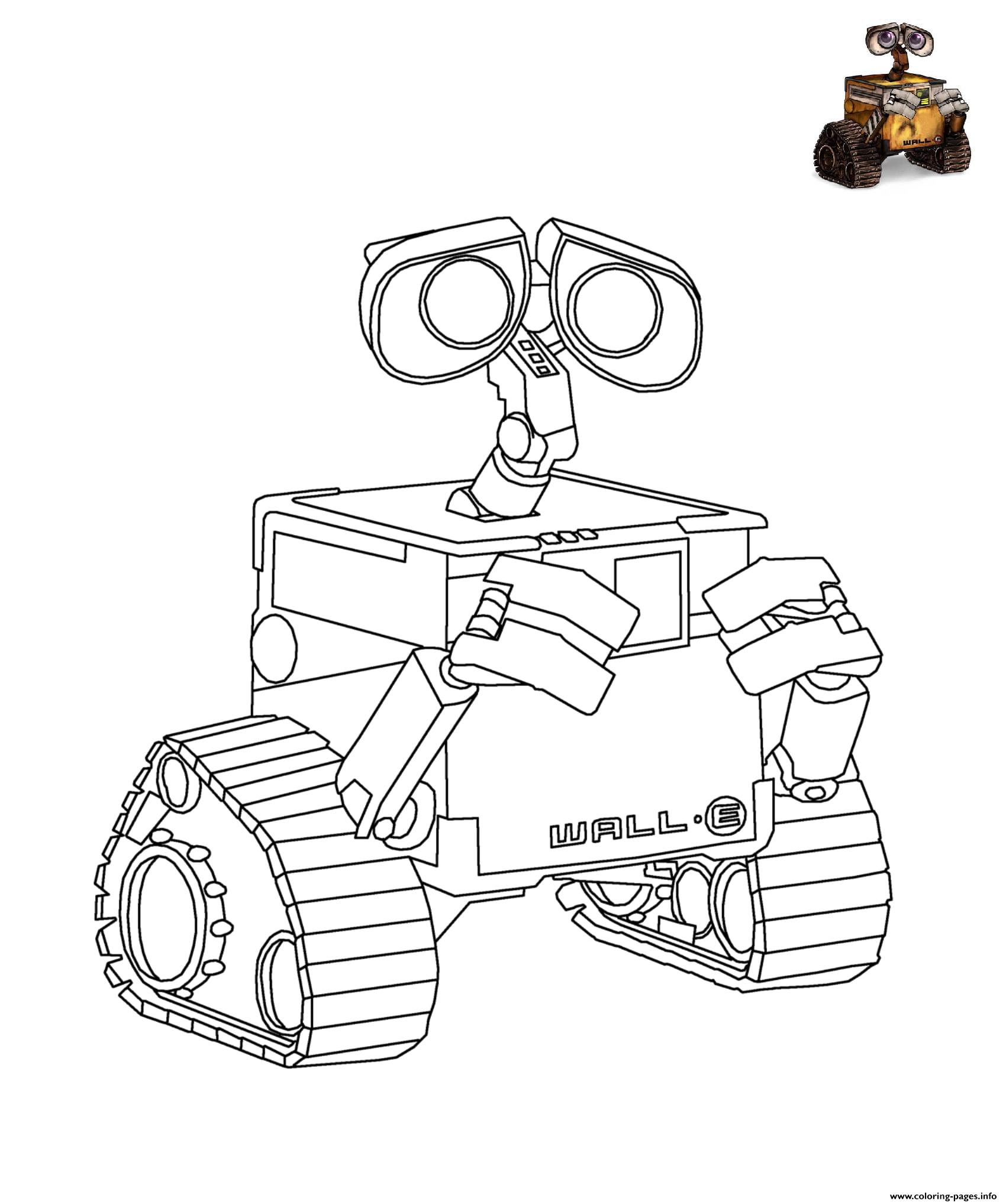 Wall E Disney coloring pages