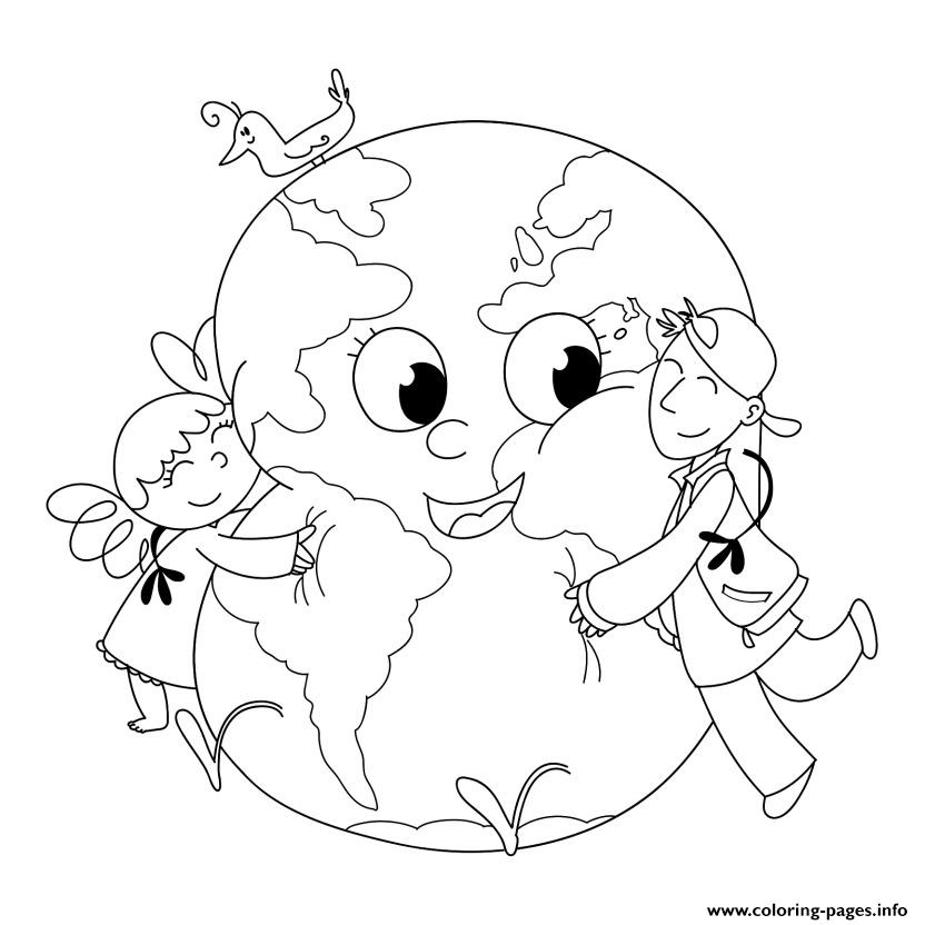 Earth Day For Kids Coloring Pages Printable