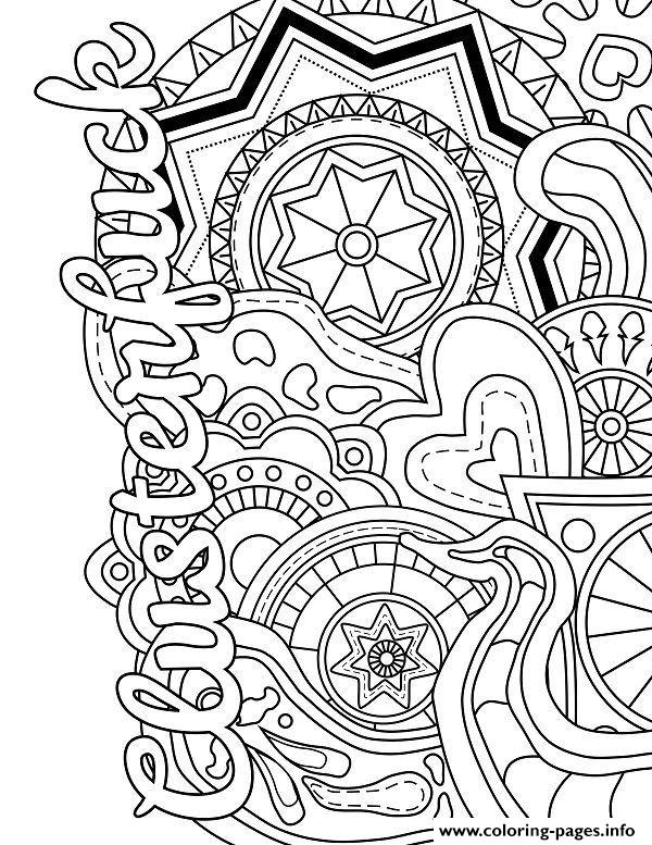 - Clusterfuck Swear Word Coloring Pages Printable