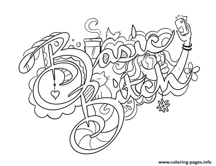 High As Fuck Swear Word Coloring Pages Printable | 568x736