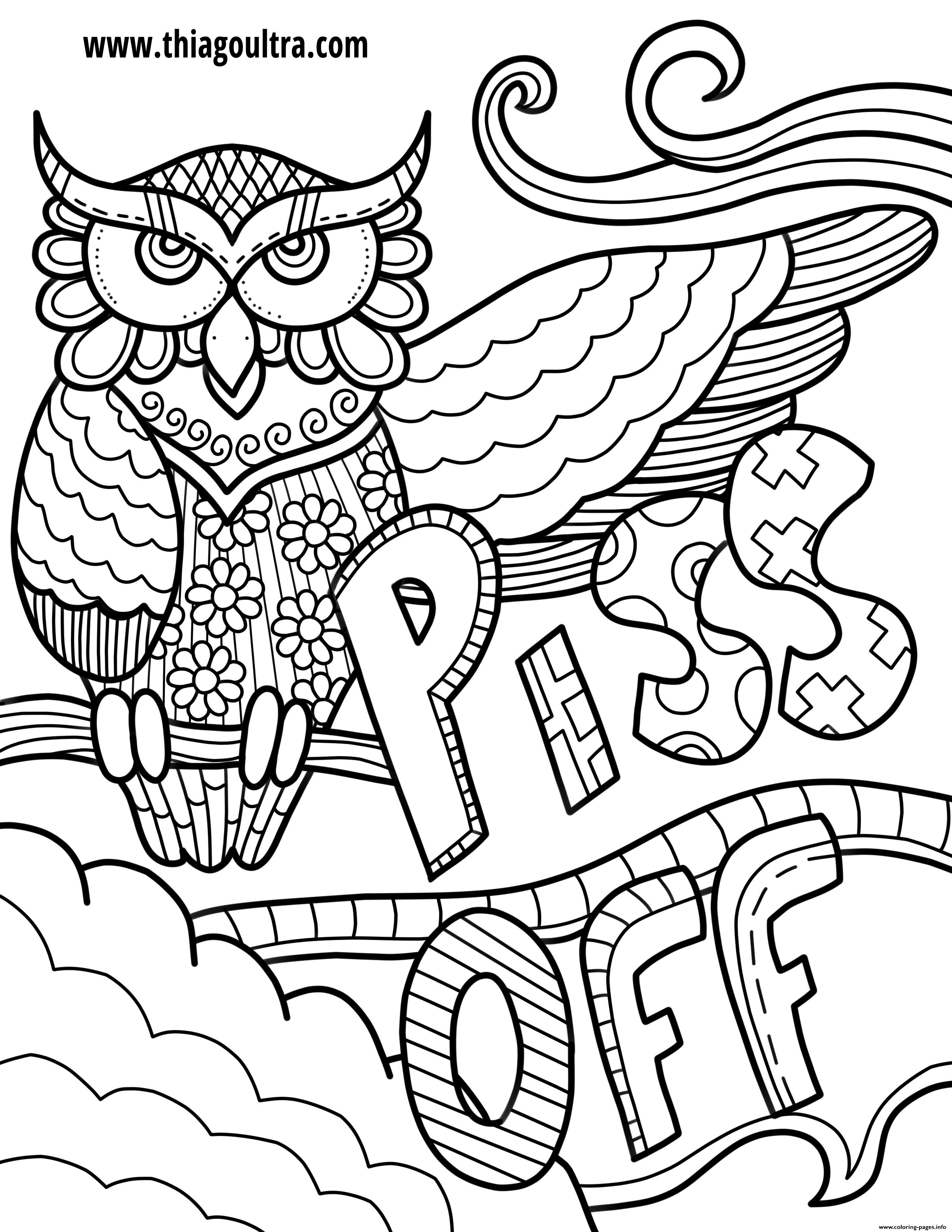 Piss Off Swear Word Coloring Pages