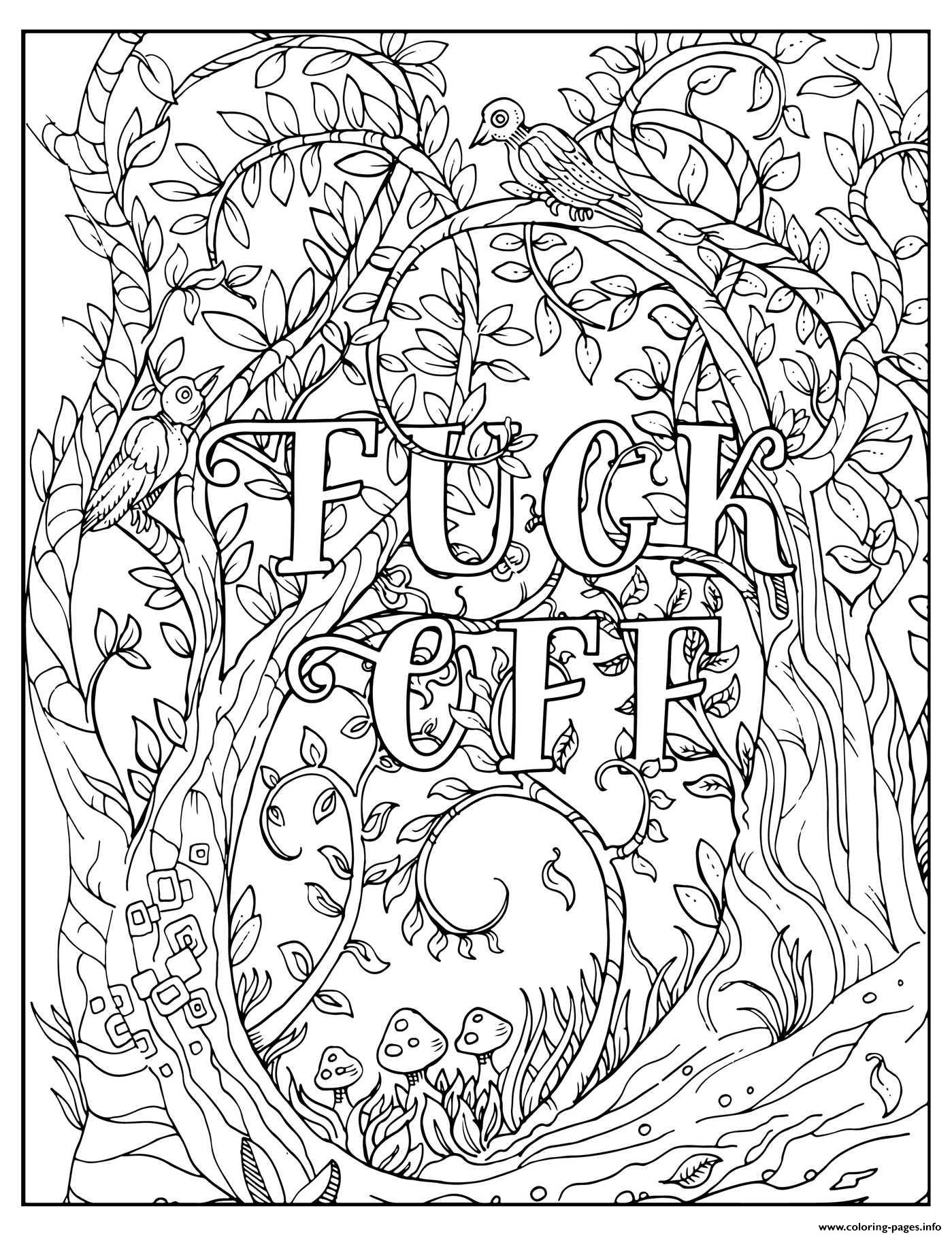 Fuck Off Im Coloring Swear Word Coloring Pages Printable