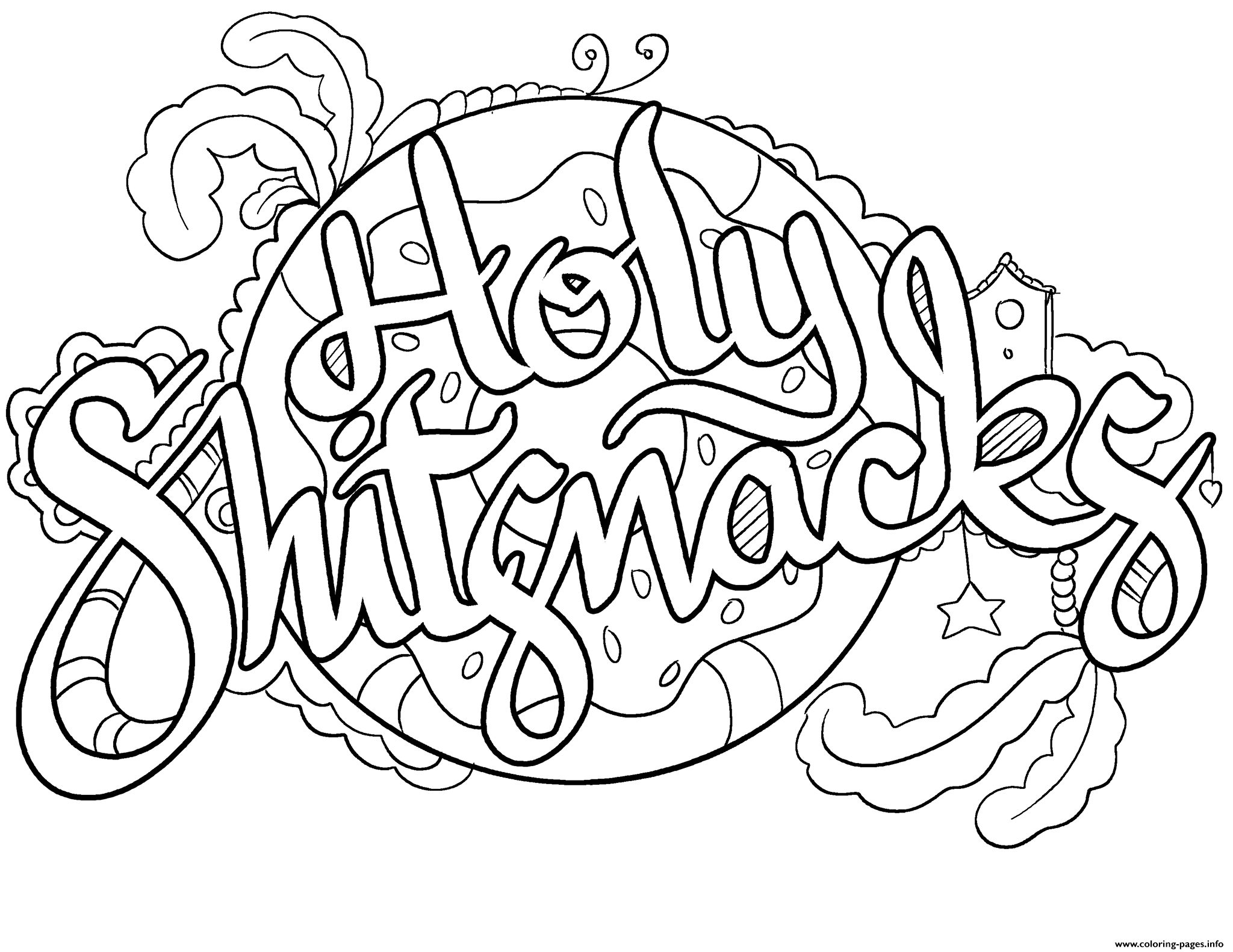 Holy Shitsnacks Swear Word Coloring Pages Printable