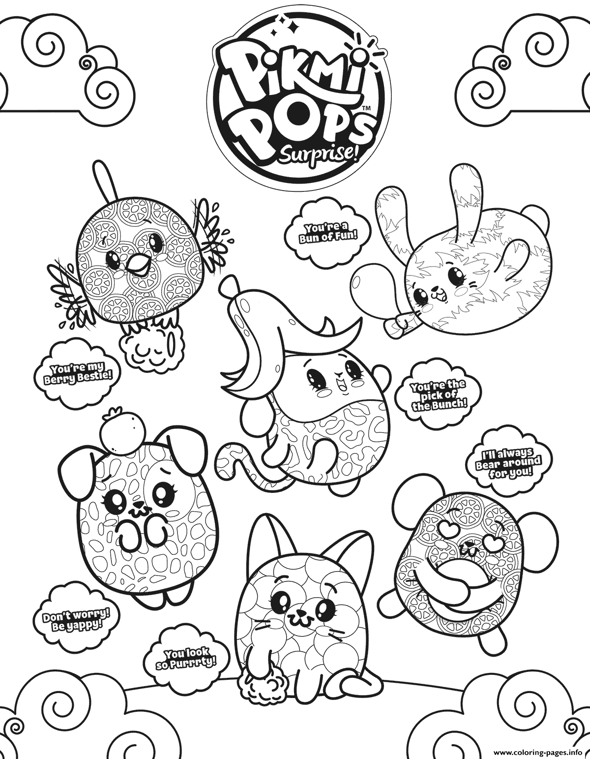 pikmi pops coloring pages Pikmi Pops Coloring Pages Printable pikmi pops coloring pages