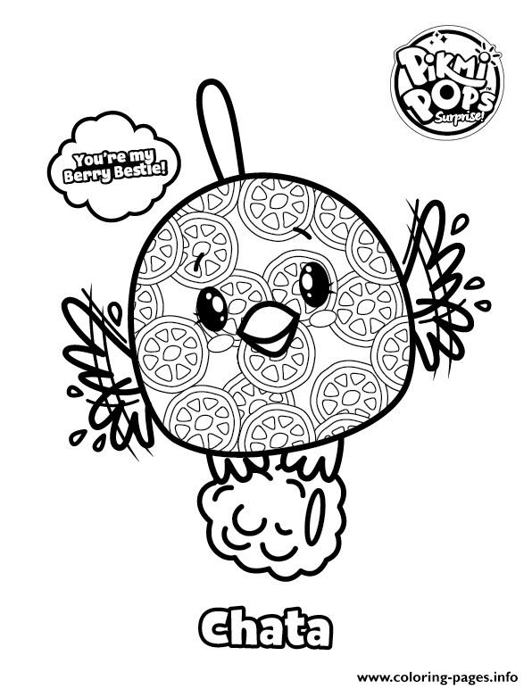 Pikmi Pops Bird Chata Coloring Pages Printable