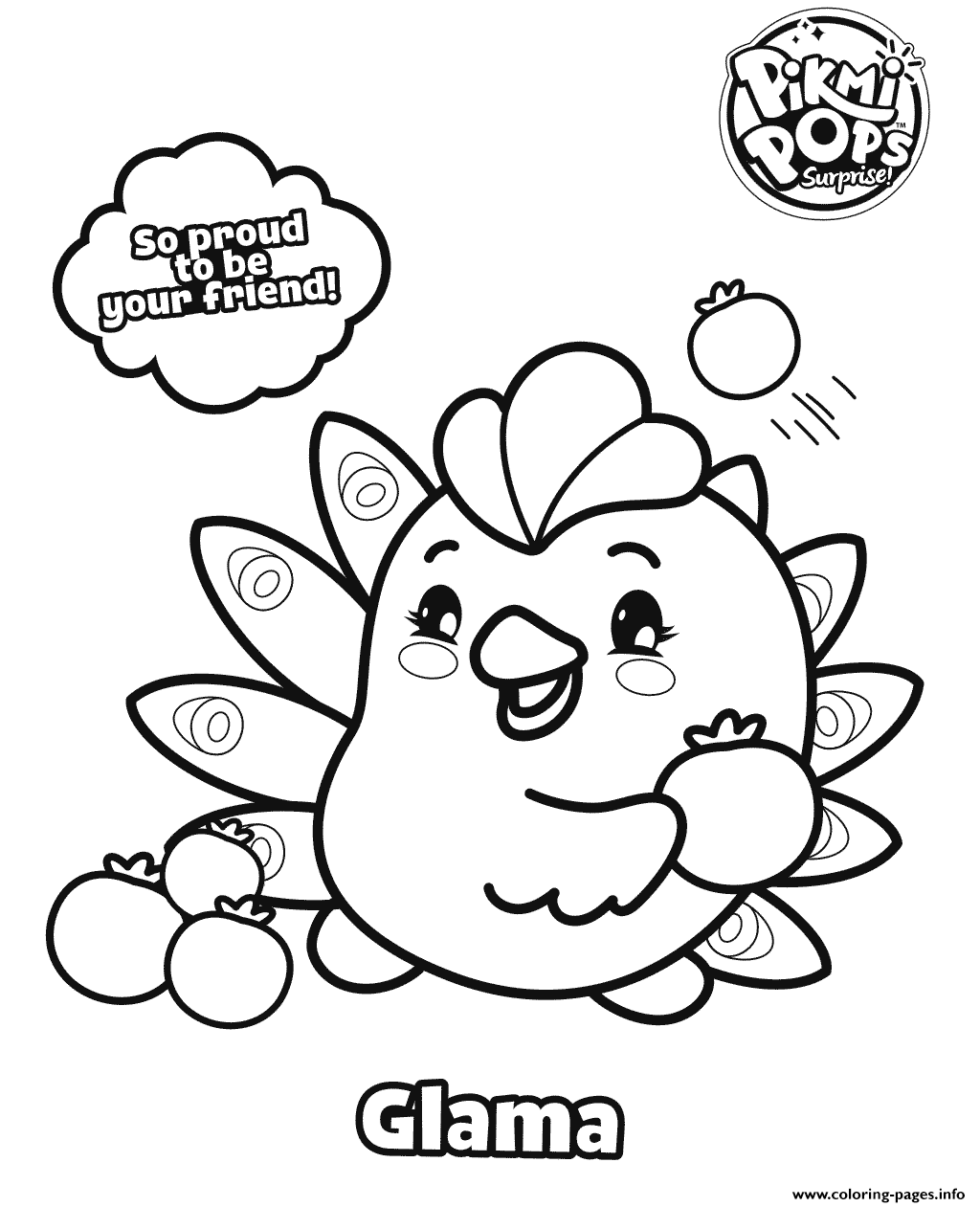pikmi pops coloring pages Pikmi Pops Glama Coloring Pages Printable pikmi pops coloring pages