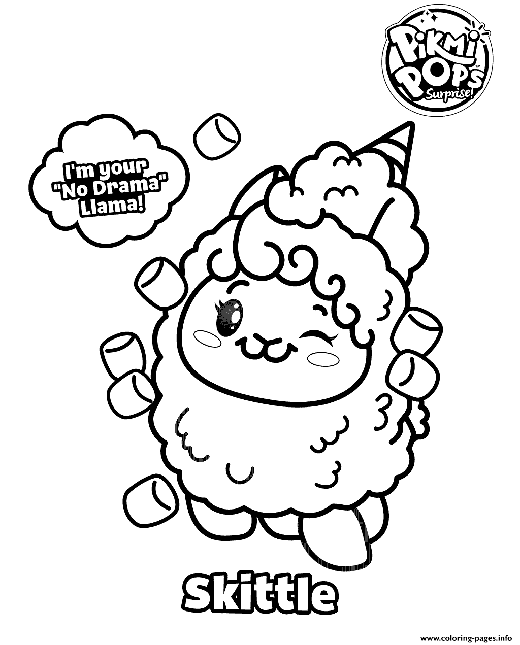 pikmi pops coloring pages Pikmi Pops Coloring For Kids Coloring Pages Printable pikmi pops coloring pages