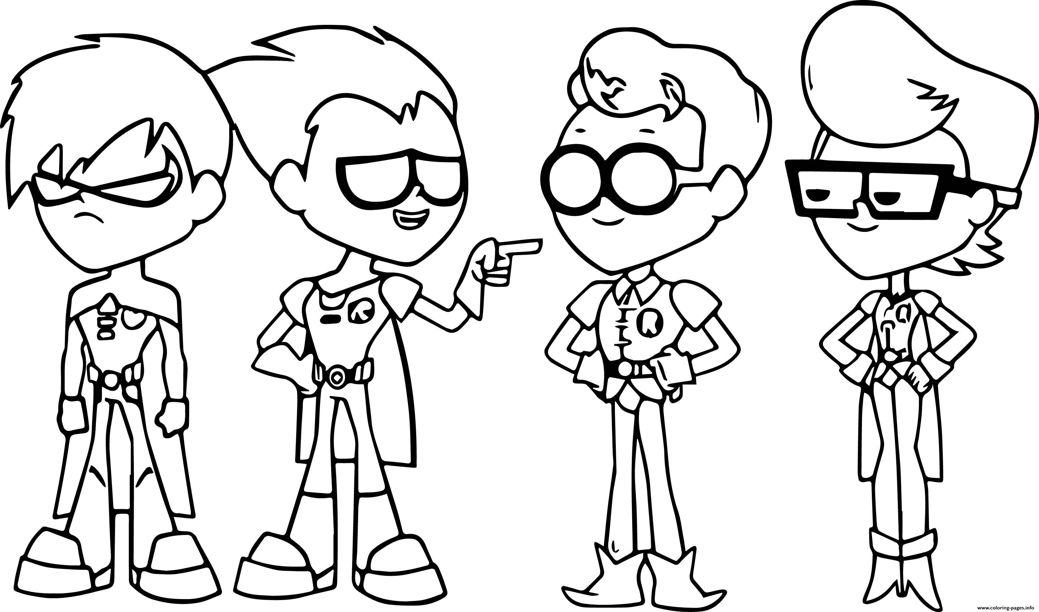 Teen Titans Go Robin Coloring Pages Printable