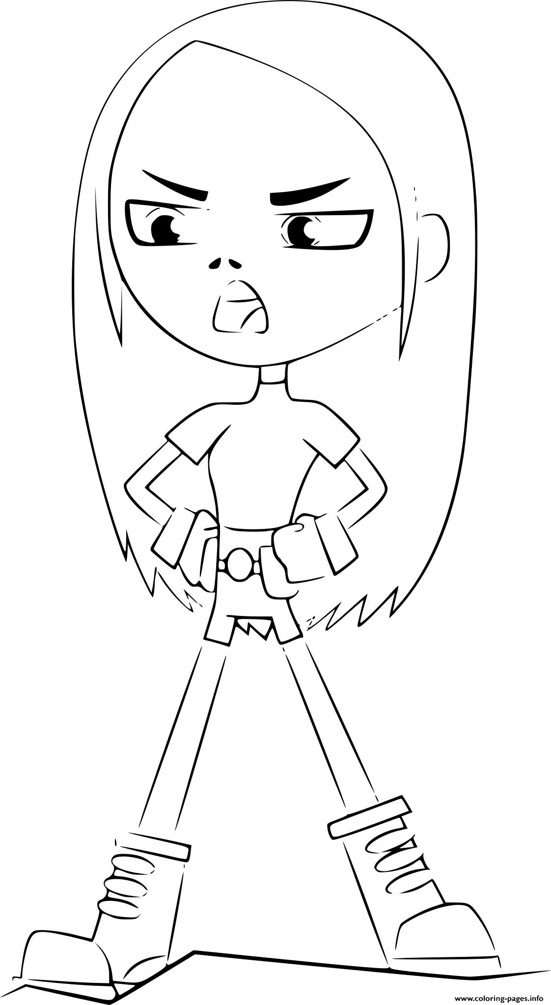 Terra Teen Titans Go Coloring Pages Printable