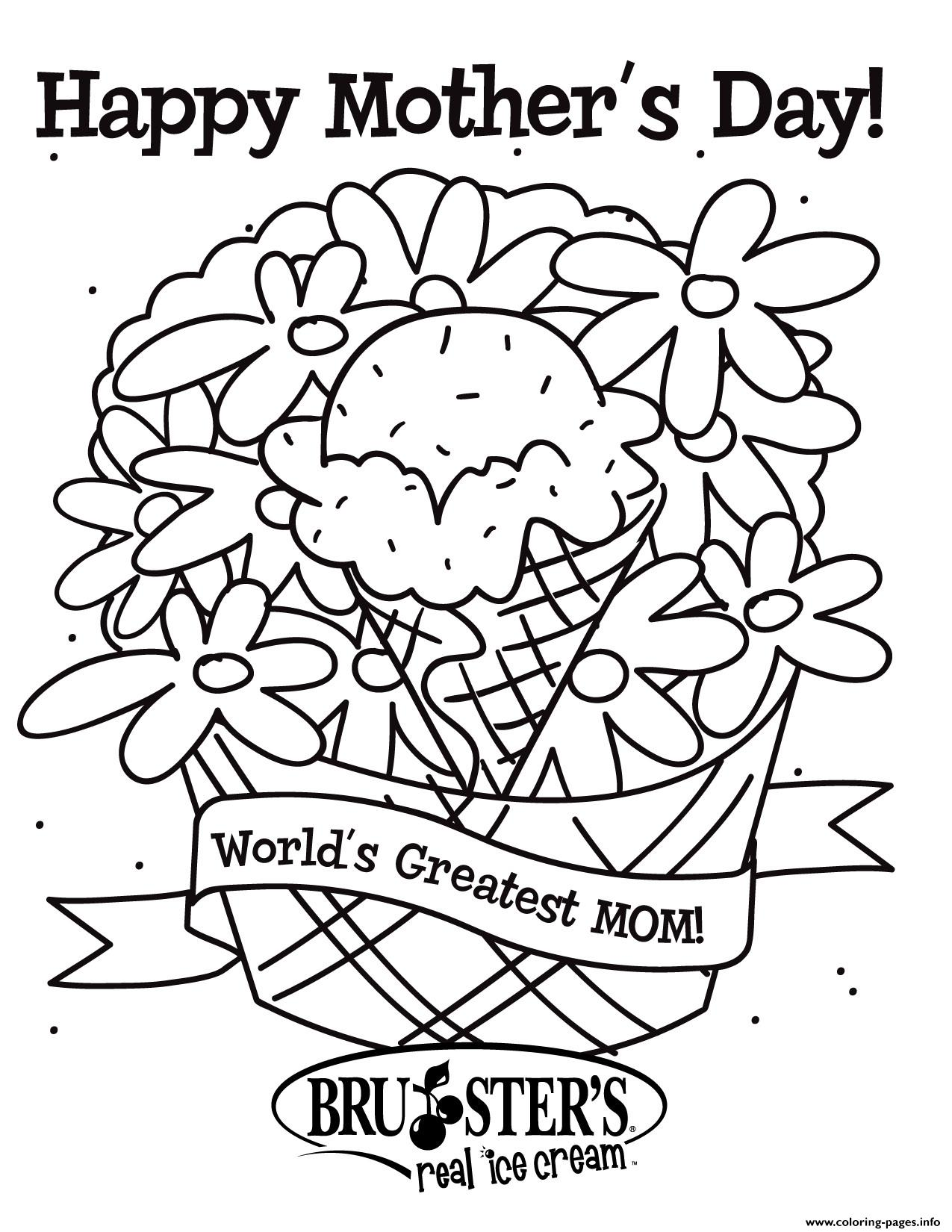 Mothers Day Worlds Greatest Mom Coloring Pages Printable