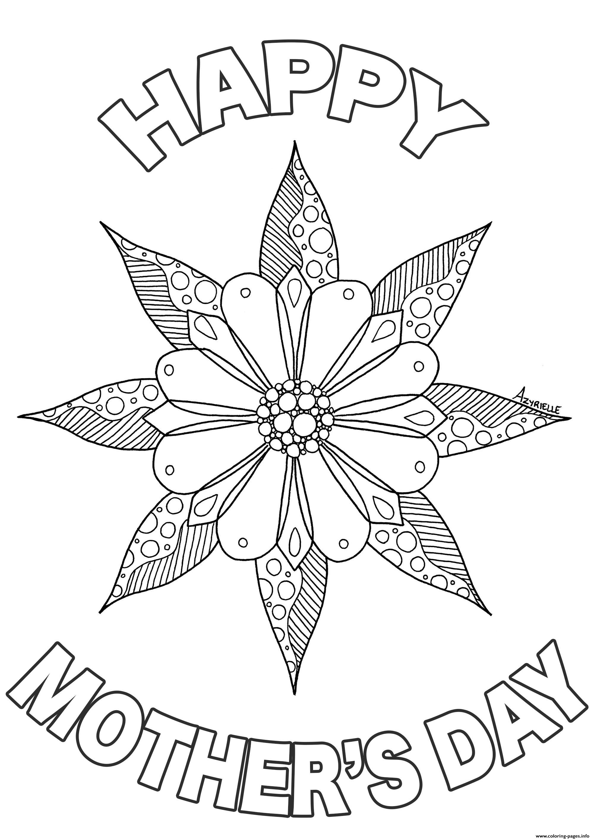 Mothers Day By Azyrielle coloring pages