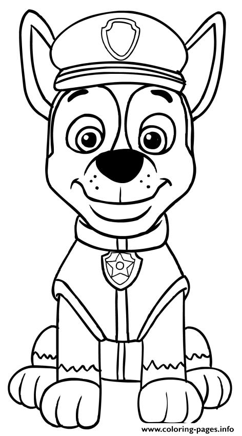 picture about Printable Paw Patrol identify Paw Patrol Chase Coloring Web pages Printable