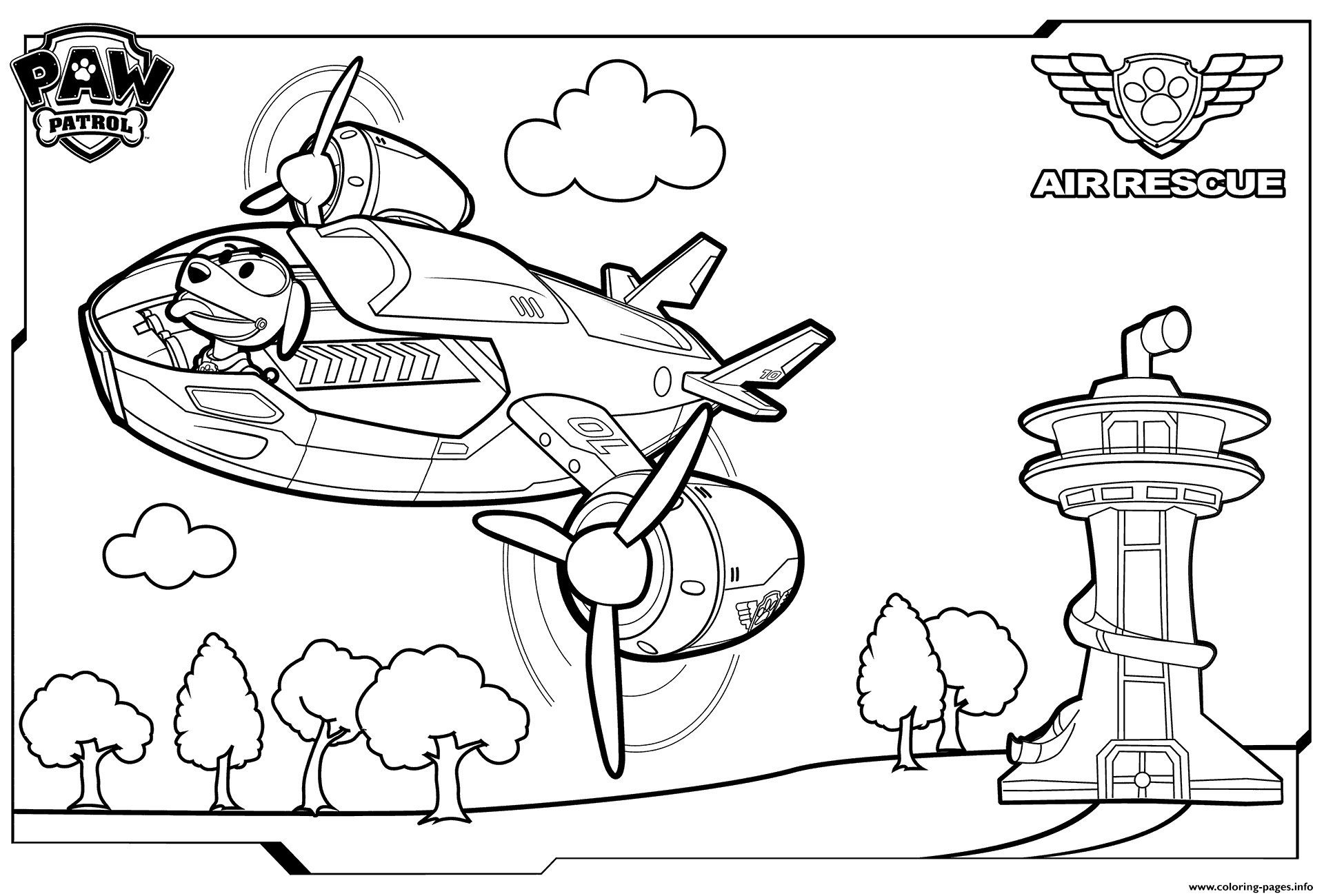 Paw Patrol Air Patroller Coloring Coloring Pages Printable