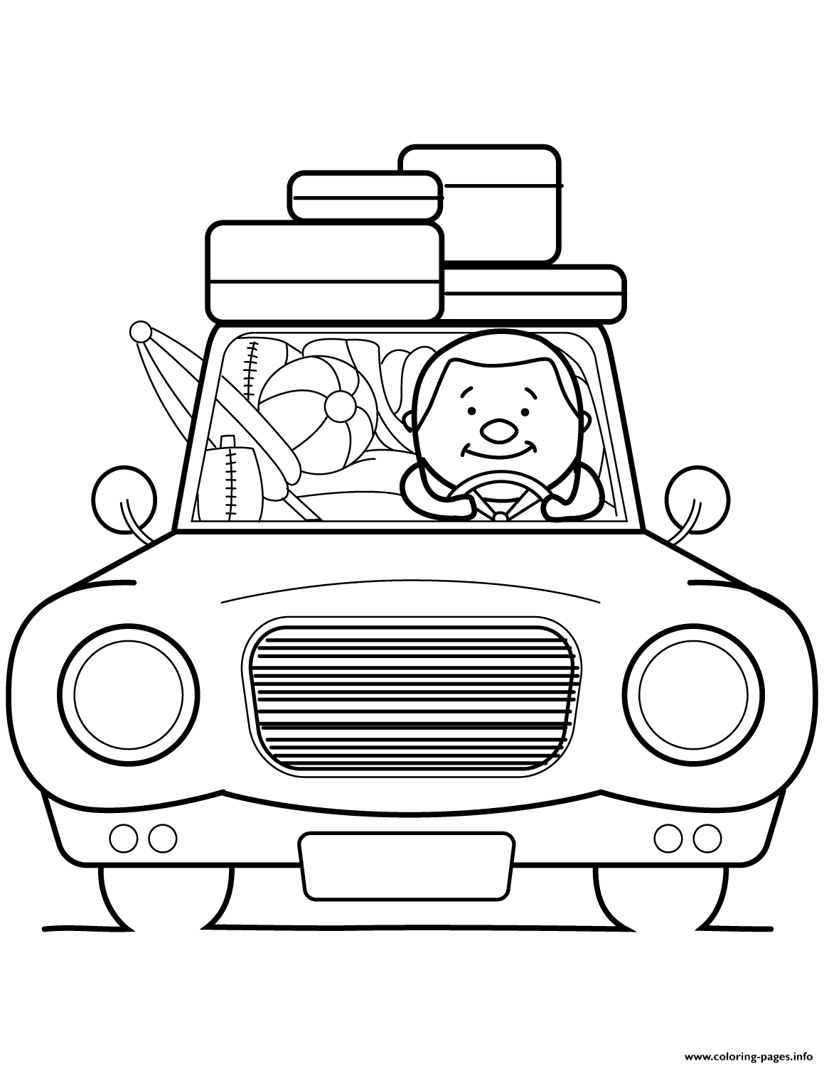 Go Summer Vacation Coloring Pages Printable