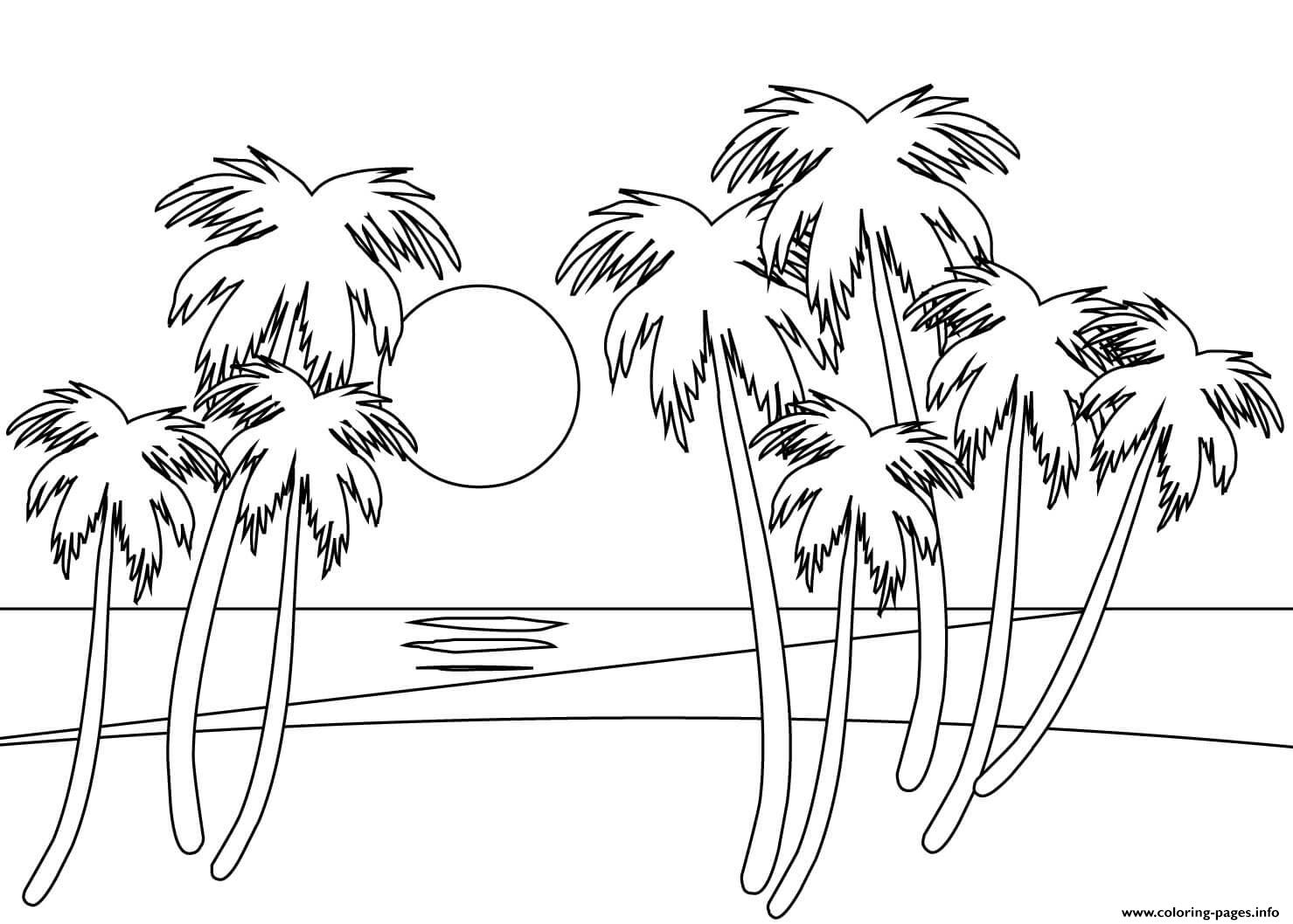 On The Beach coloring pages
