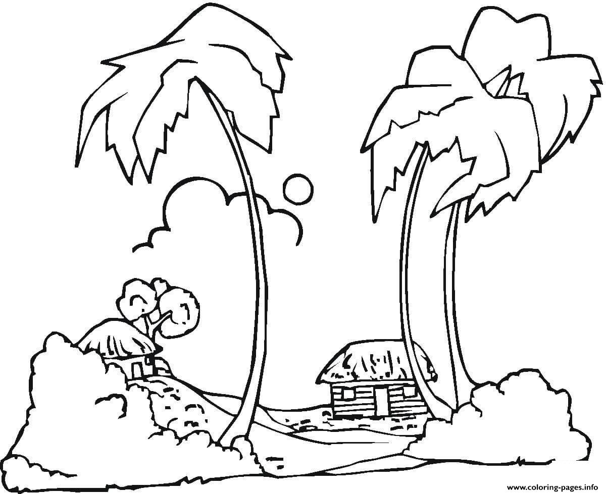 Hawaii Beaches coloring pages