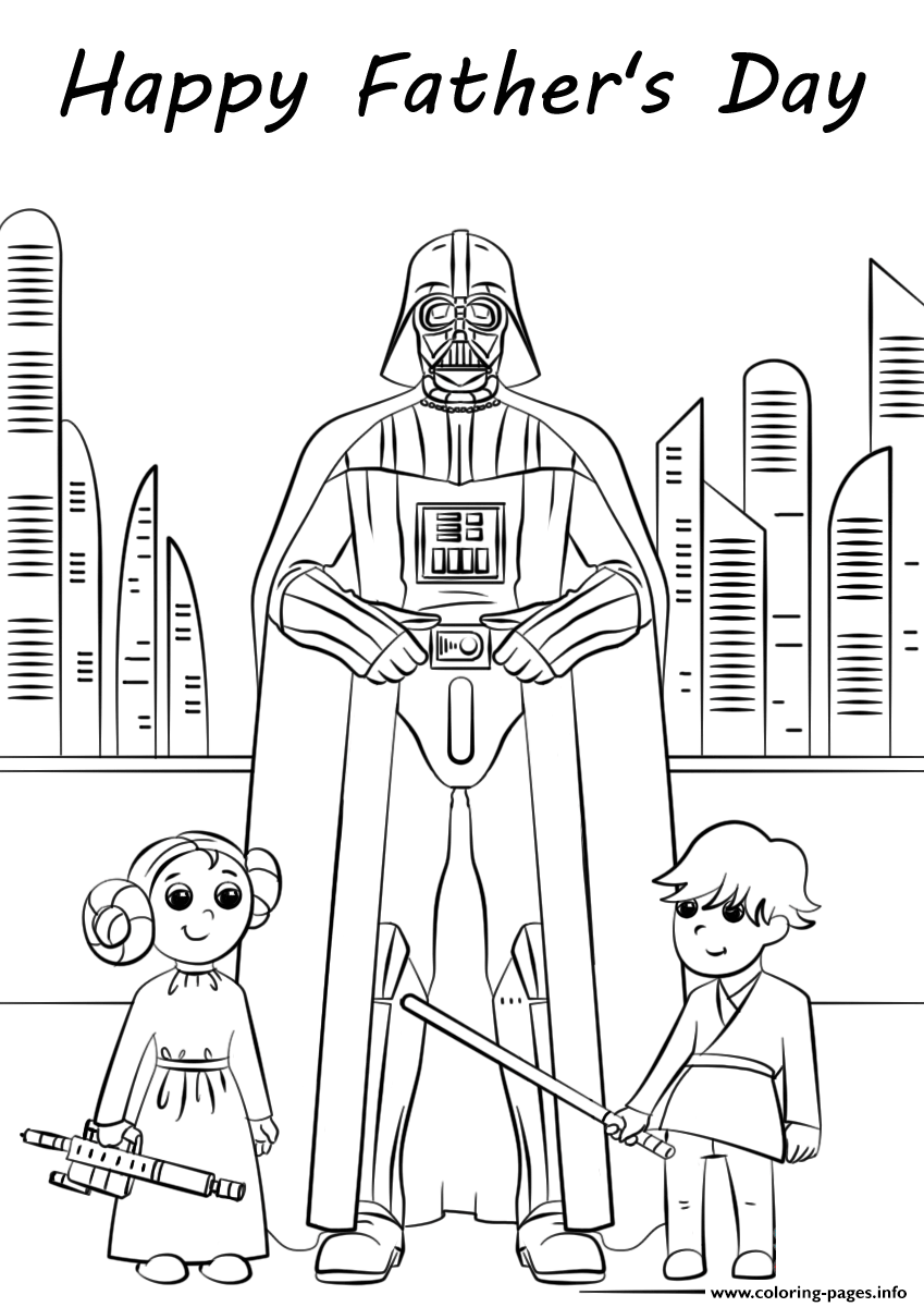 Star Wars Fathers Day Coloring